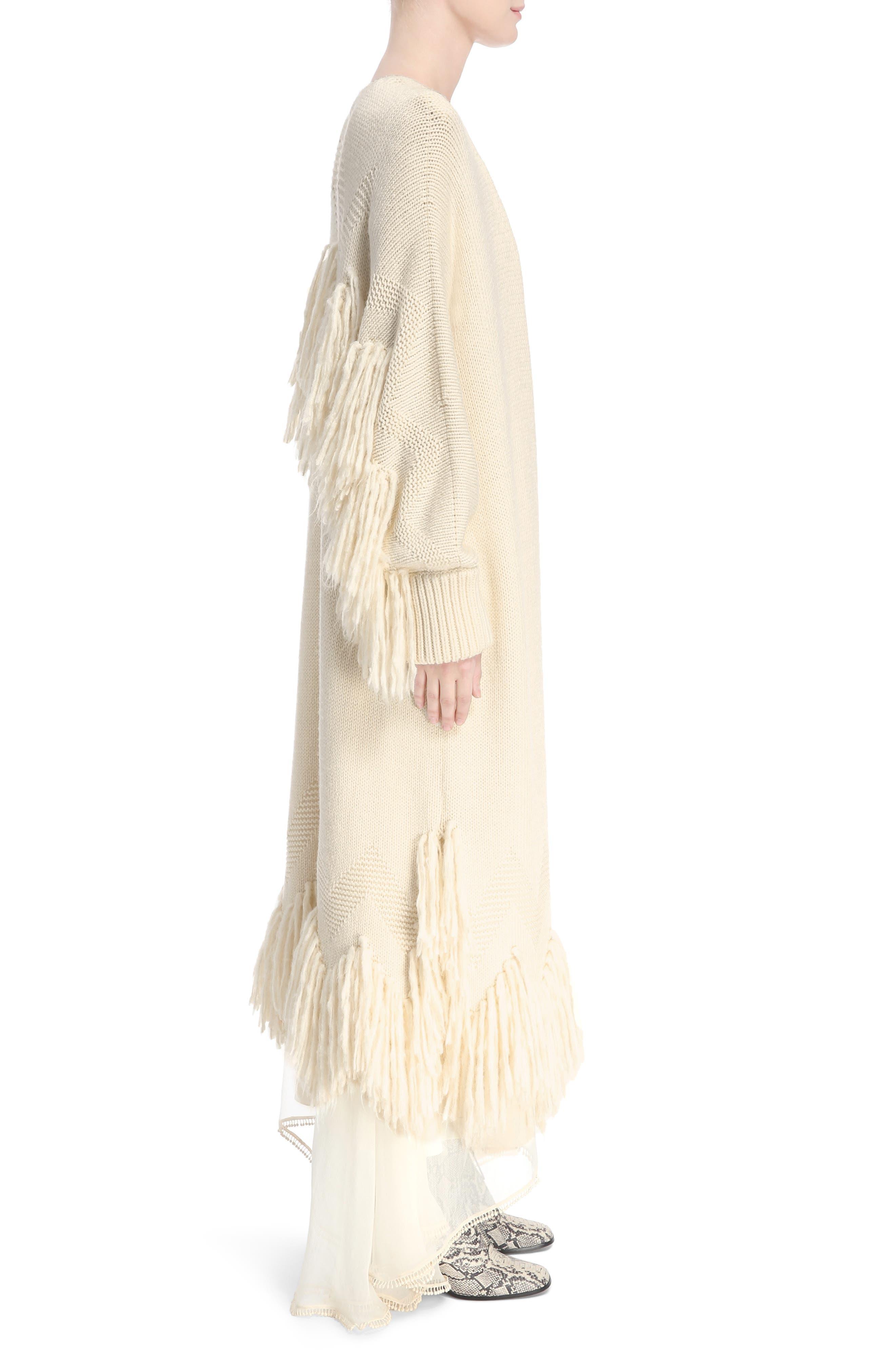 Alternate Image 3  - Chloé Shaggy Fringe Wool Cardigan
