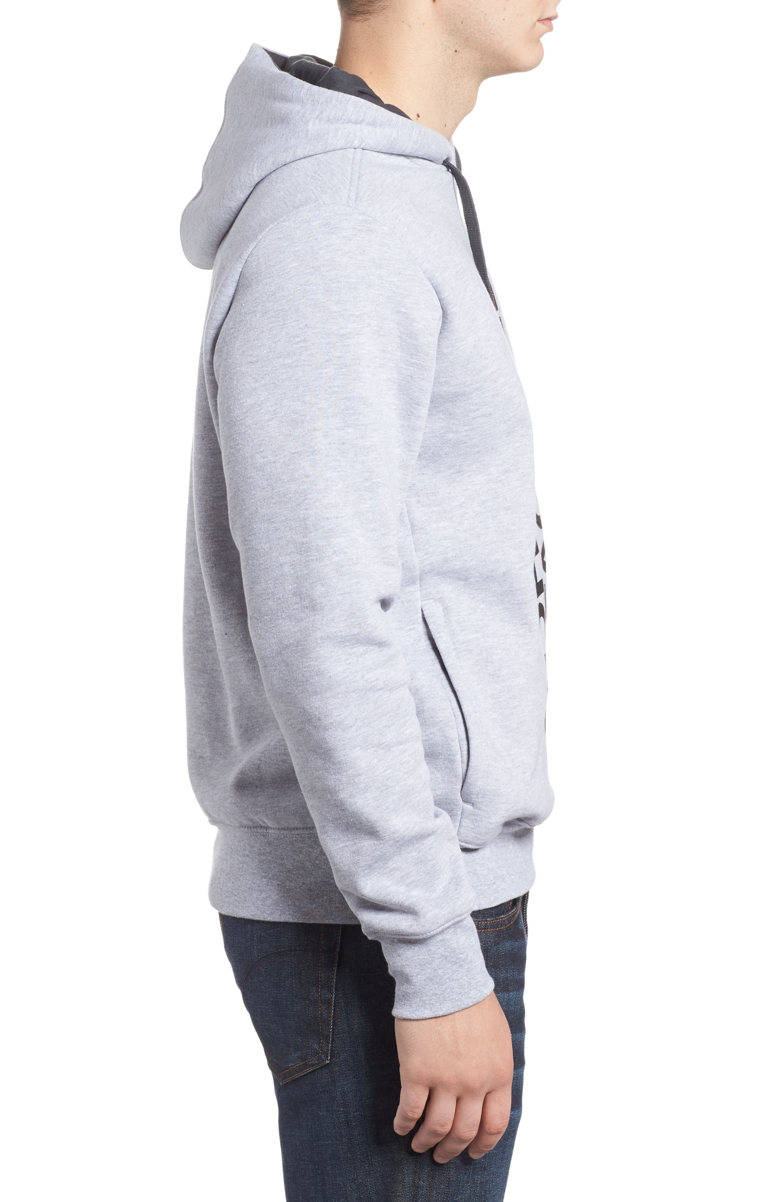 Trivert Cotton Blend Hoodie,                             Alternate thumbnail 3, color,                             Light Grey/ Asphalt Grey Multi