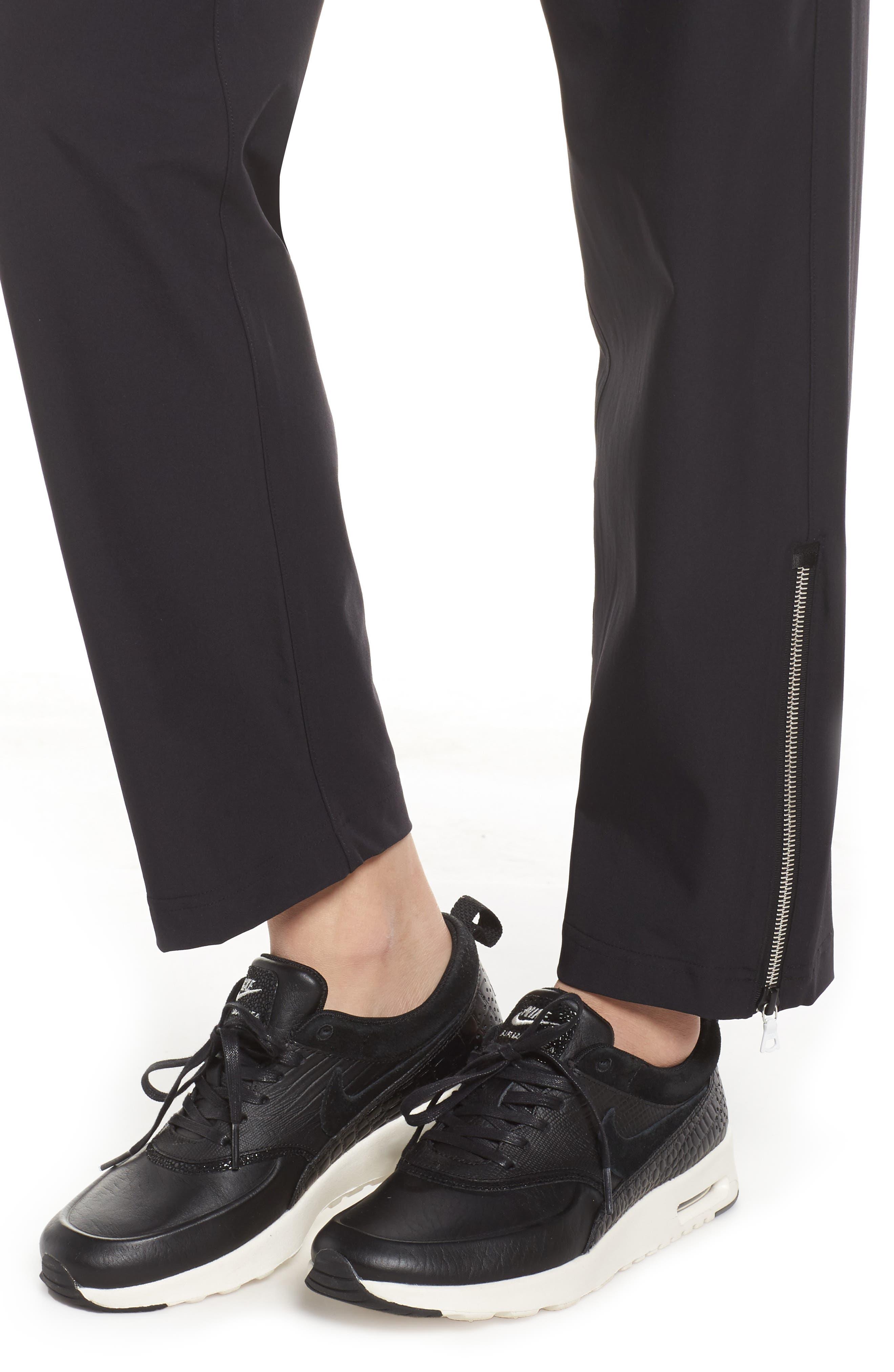NikeLab Stretch Woven Training Pants,                             Alternate thumbnail 4, color,                             Black/ Black
