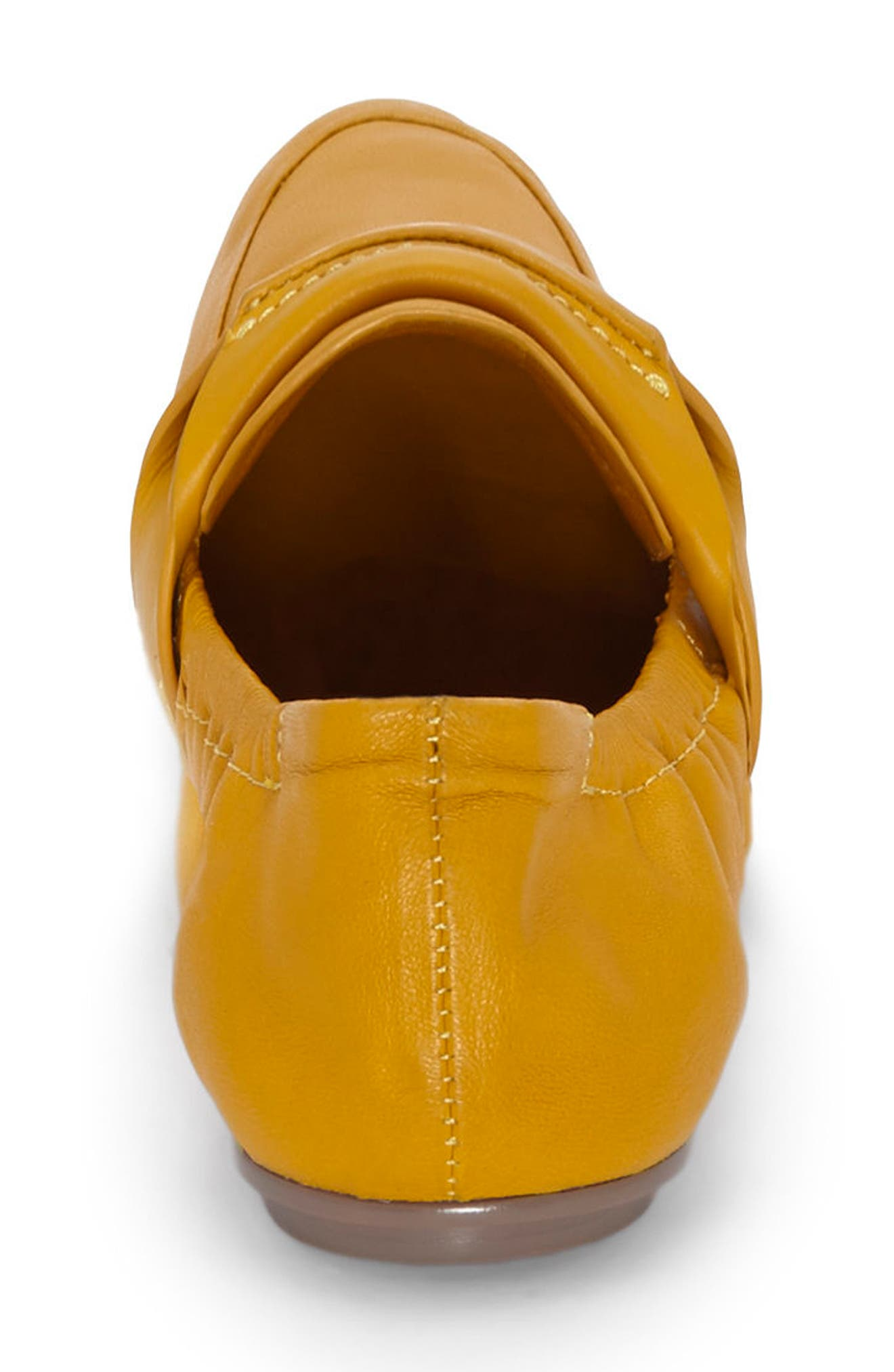 Erin Loafer Flat,                             Alternate thumbnail 6, color,                             Mustard