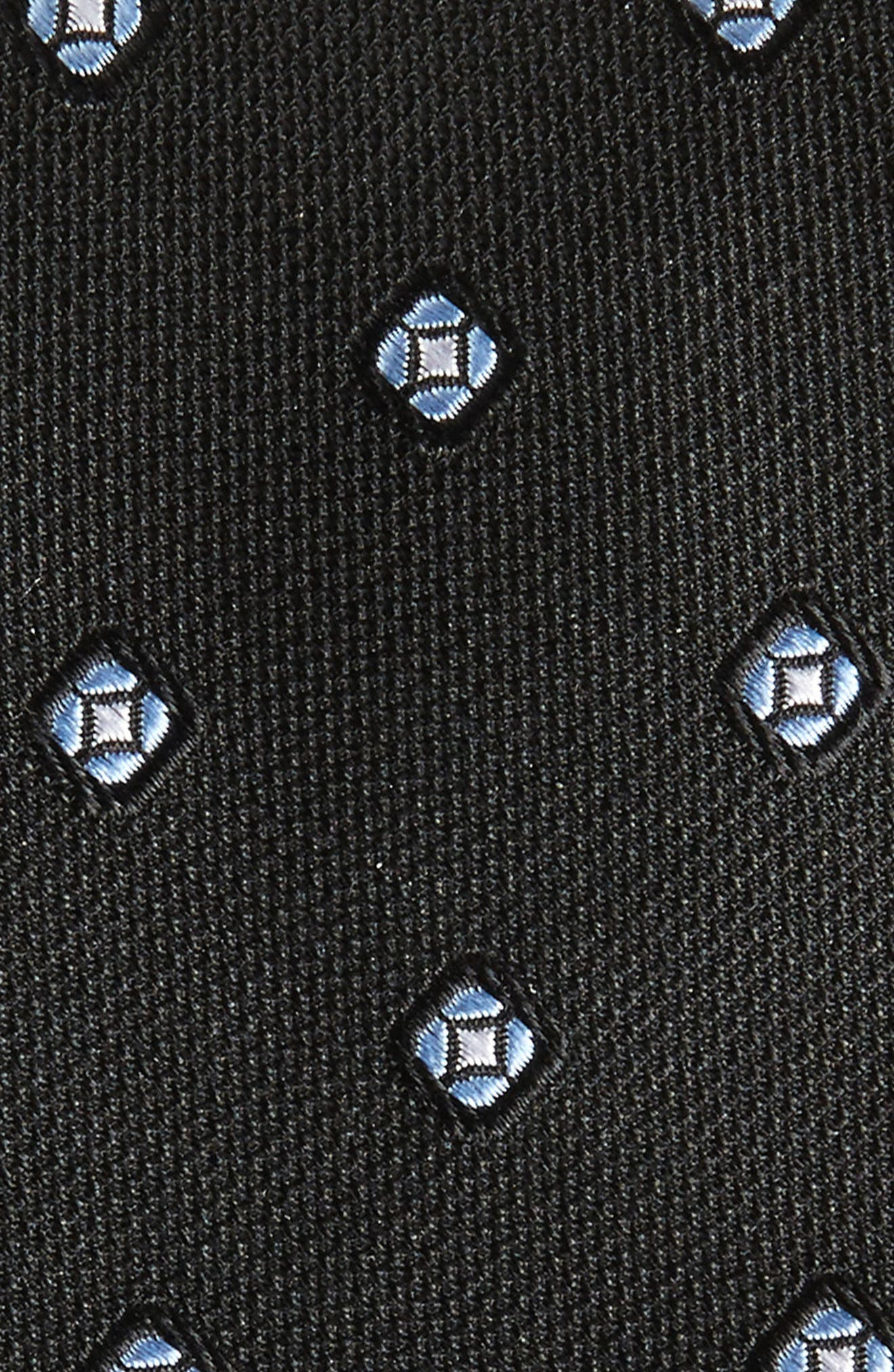 Medallion Silk Tie,                             Alternate thumbnail 2, color,                             Black
