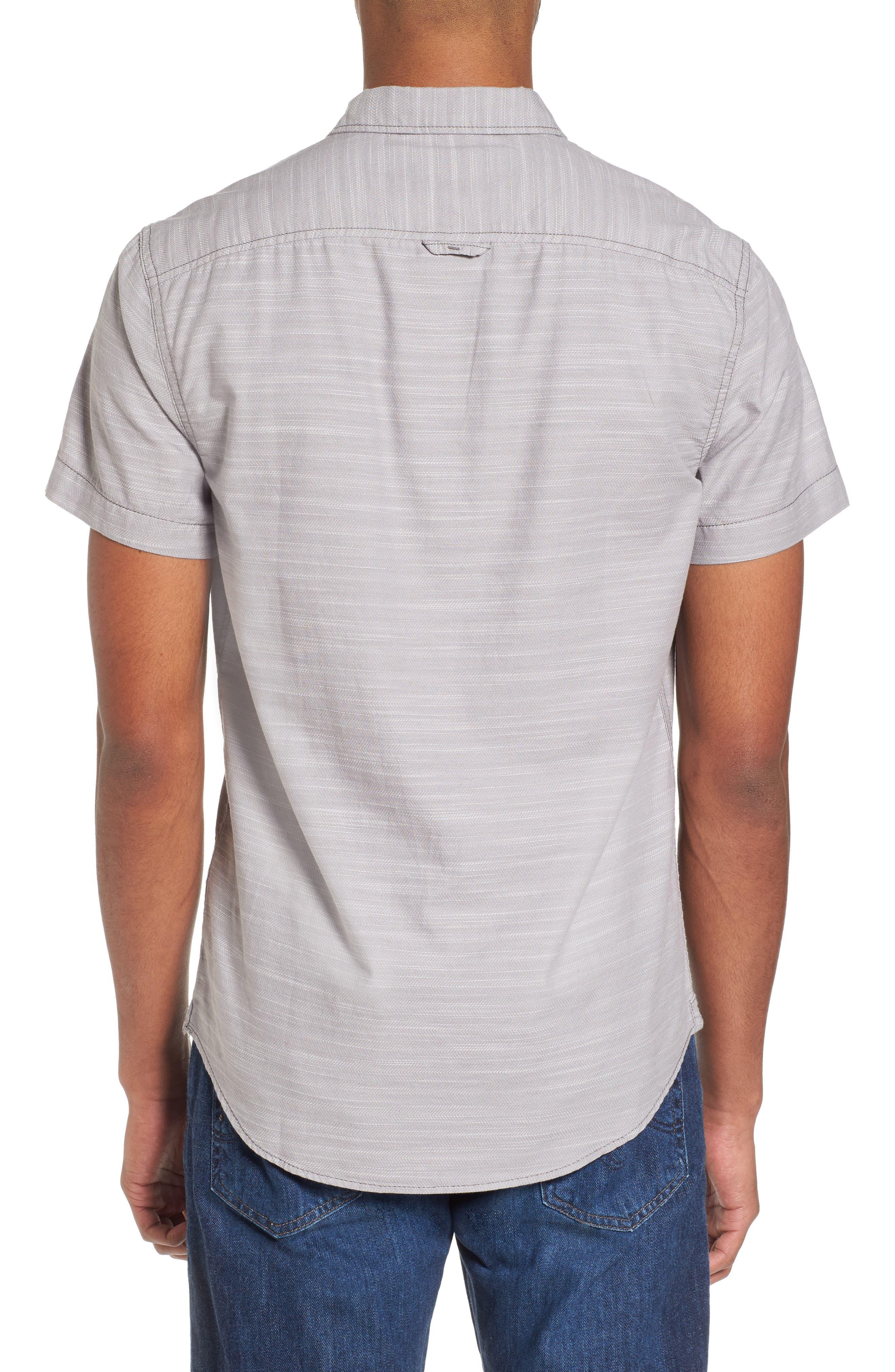 Herringbone Chambray Shirt,                             Alternate thumbnail 2, color,                             Grey Filigree Herringbone