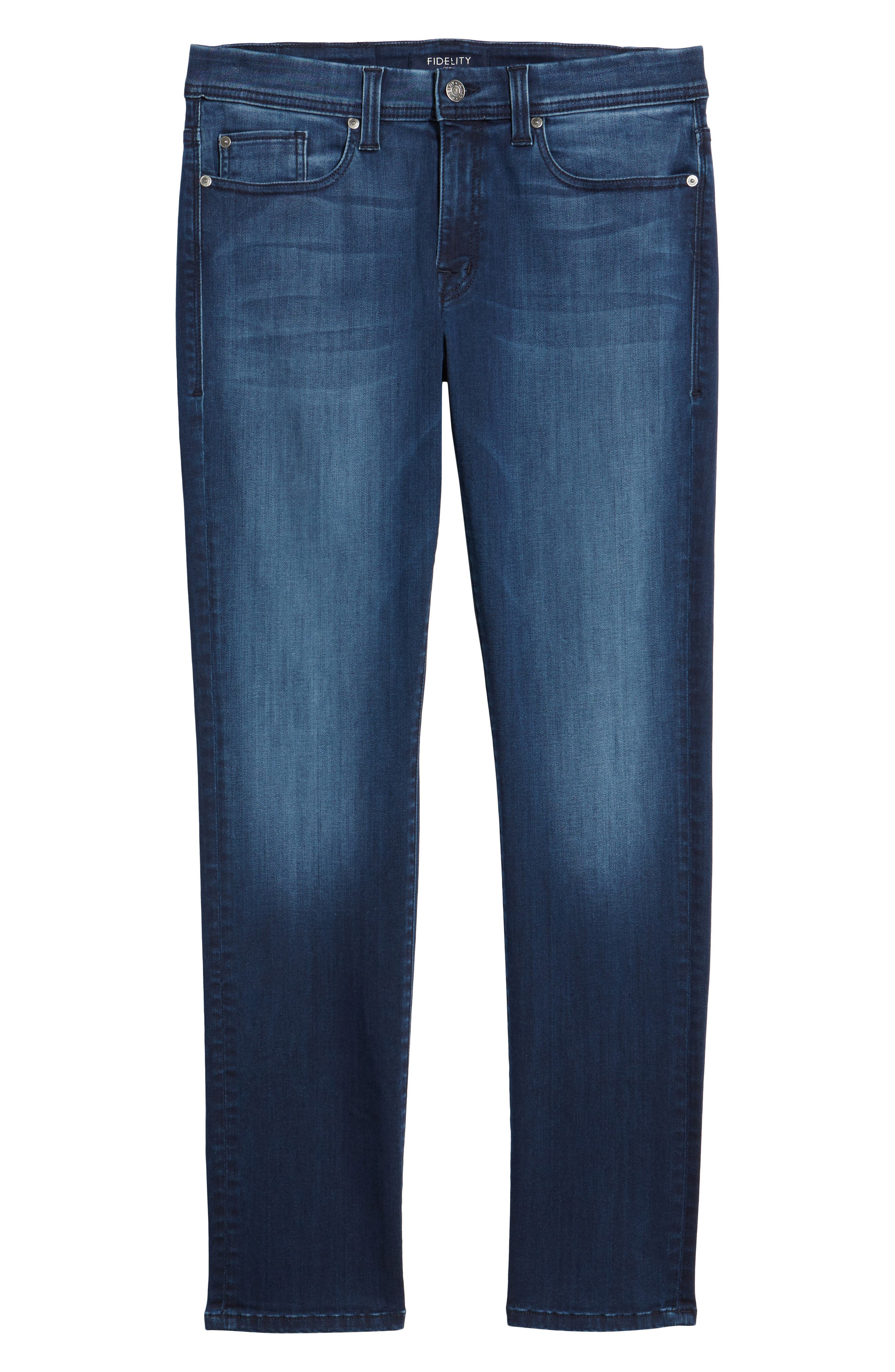 Jimmy Slim Straight Leg Jeans,                             Alternate thumbnail 6, color,                             Galaxy Blue