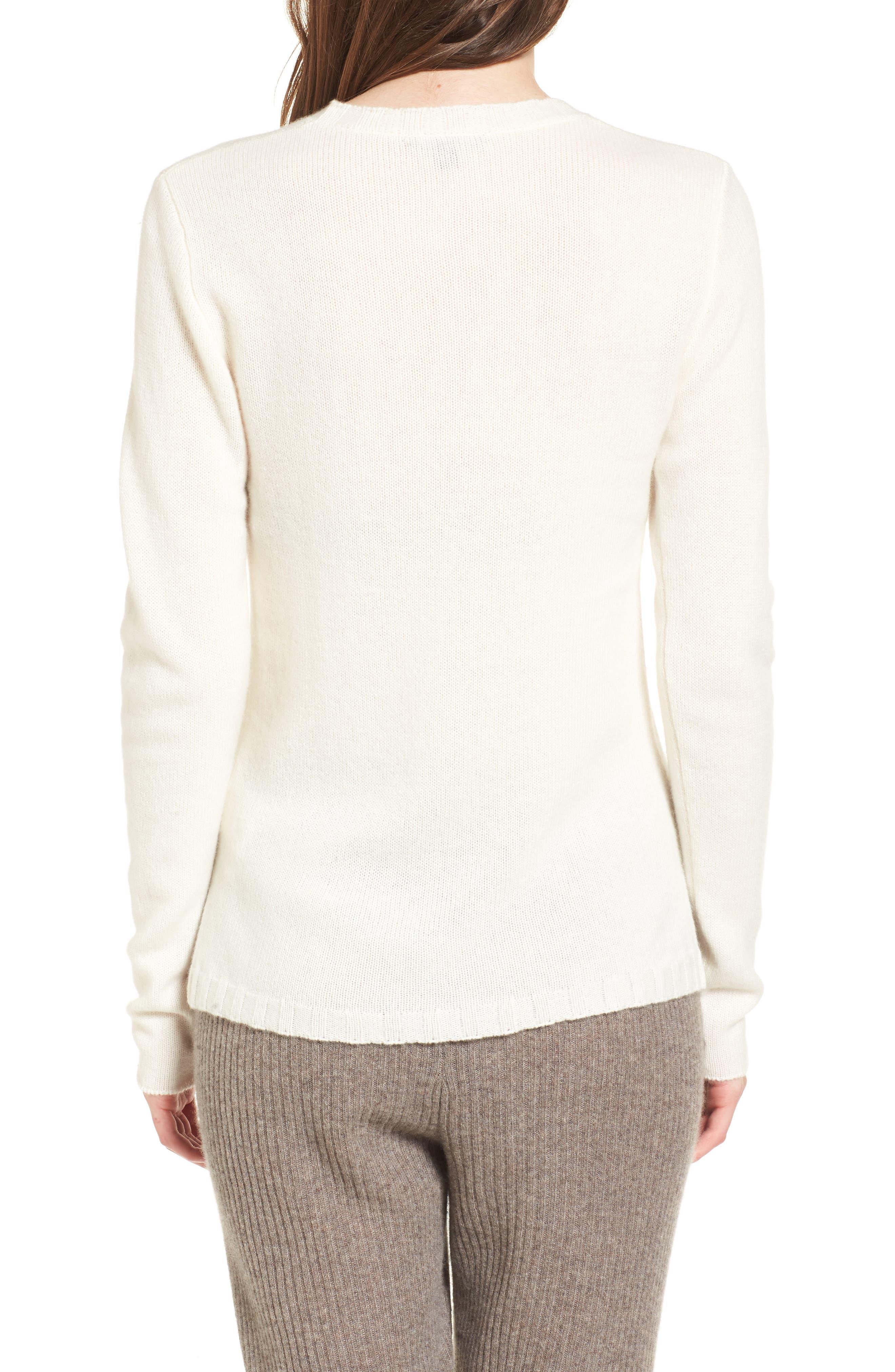 Alternate Image 2  - James Perse Cashmere Crewneck Sweater