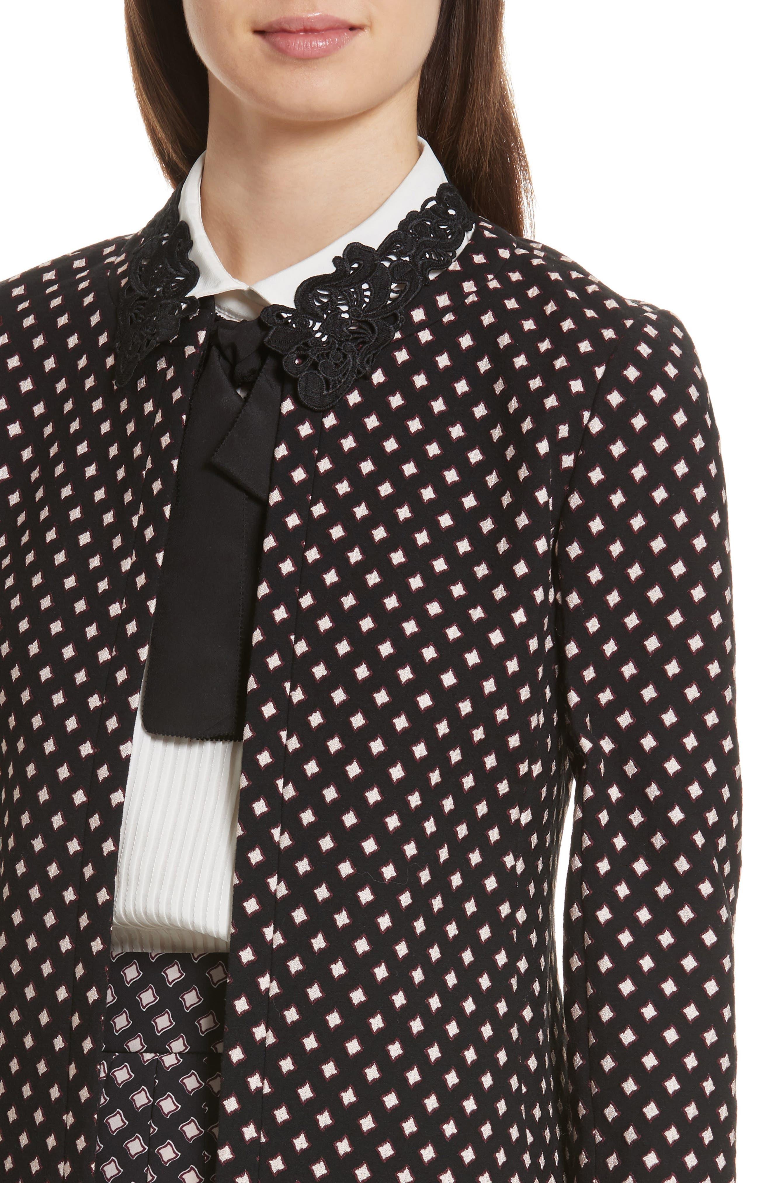 Alternate Image 4  - kate spade new york diamond jacquard jacket