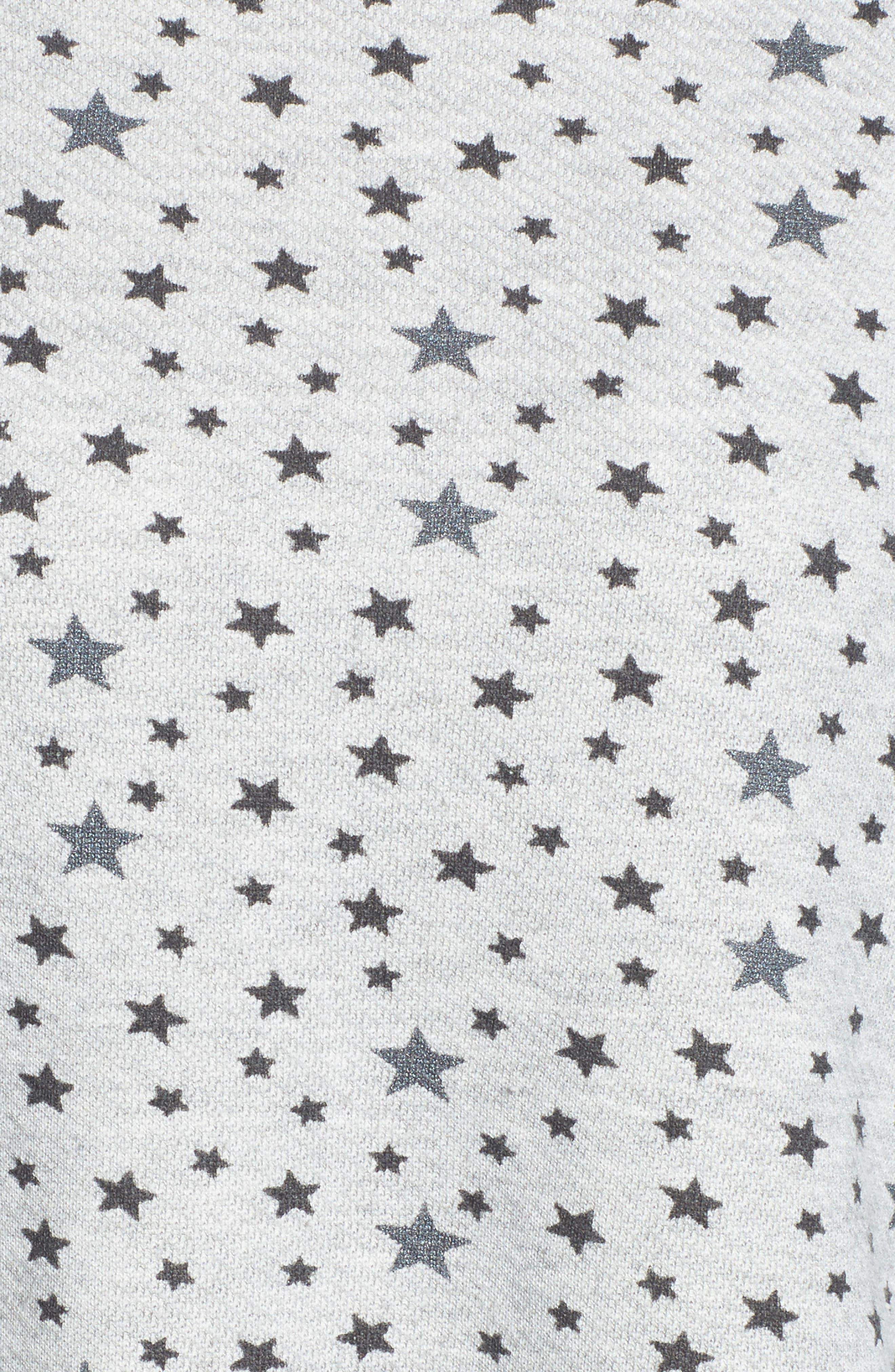 The Slouchy Crop Sweatshirt,                             Alternate thumbnail 5, color,                             Mixed Star Print