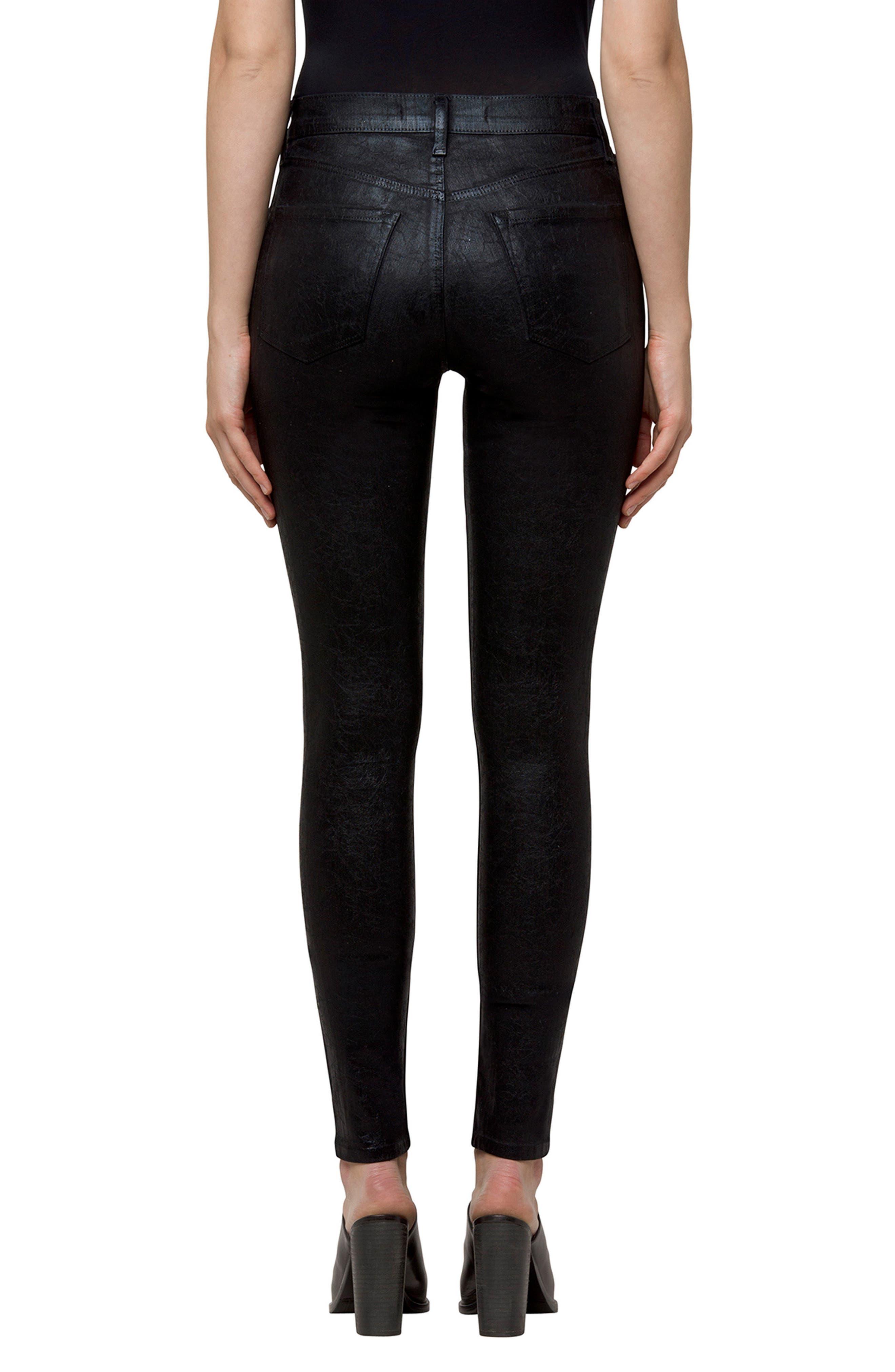 Maria High Waist Velvet Skinny Jeans,                             Alternate thumbnail 2, color,                             Crystalline