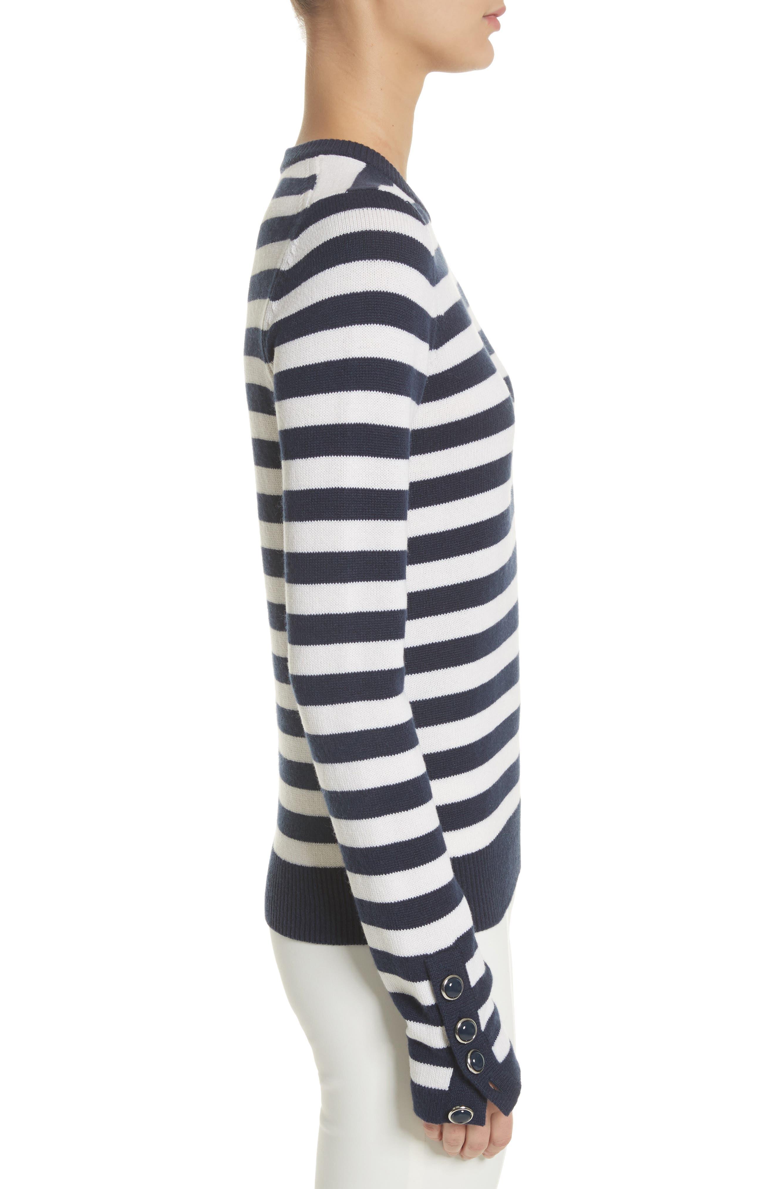 Alternate Image 3  - Michael Kors Button Cuff Cashmere Sweater