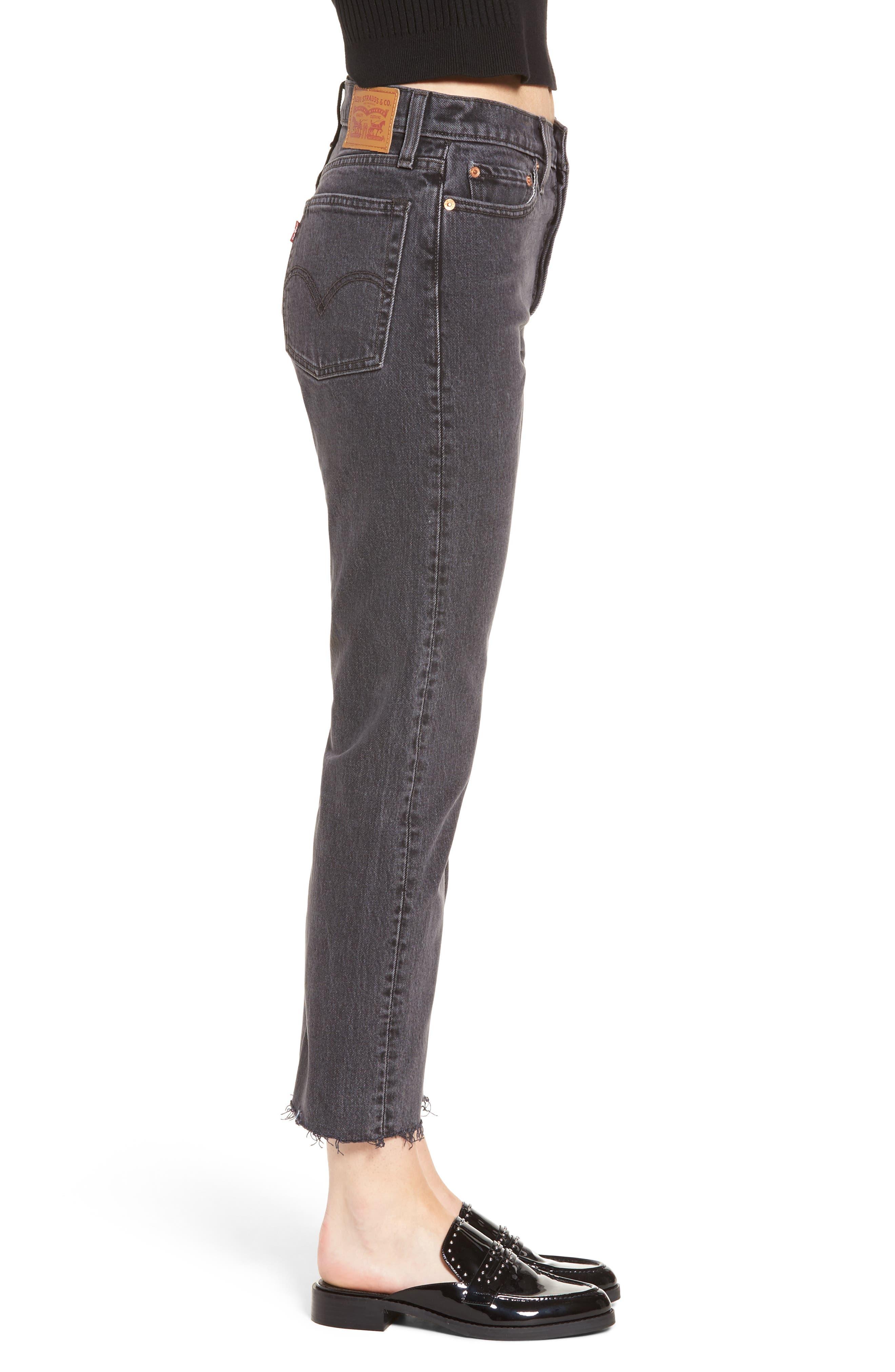 Wedgie High Waist Ankle Straight Leg Jeans,                             Alternate thumbnail 3, color,                             That Girl