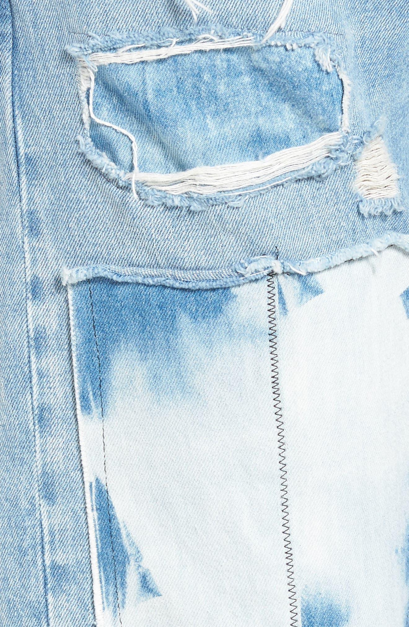 Crush Tapered Jeans,                             Alternate thumbnail 6, color,                             Tidal Wave