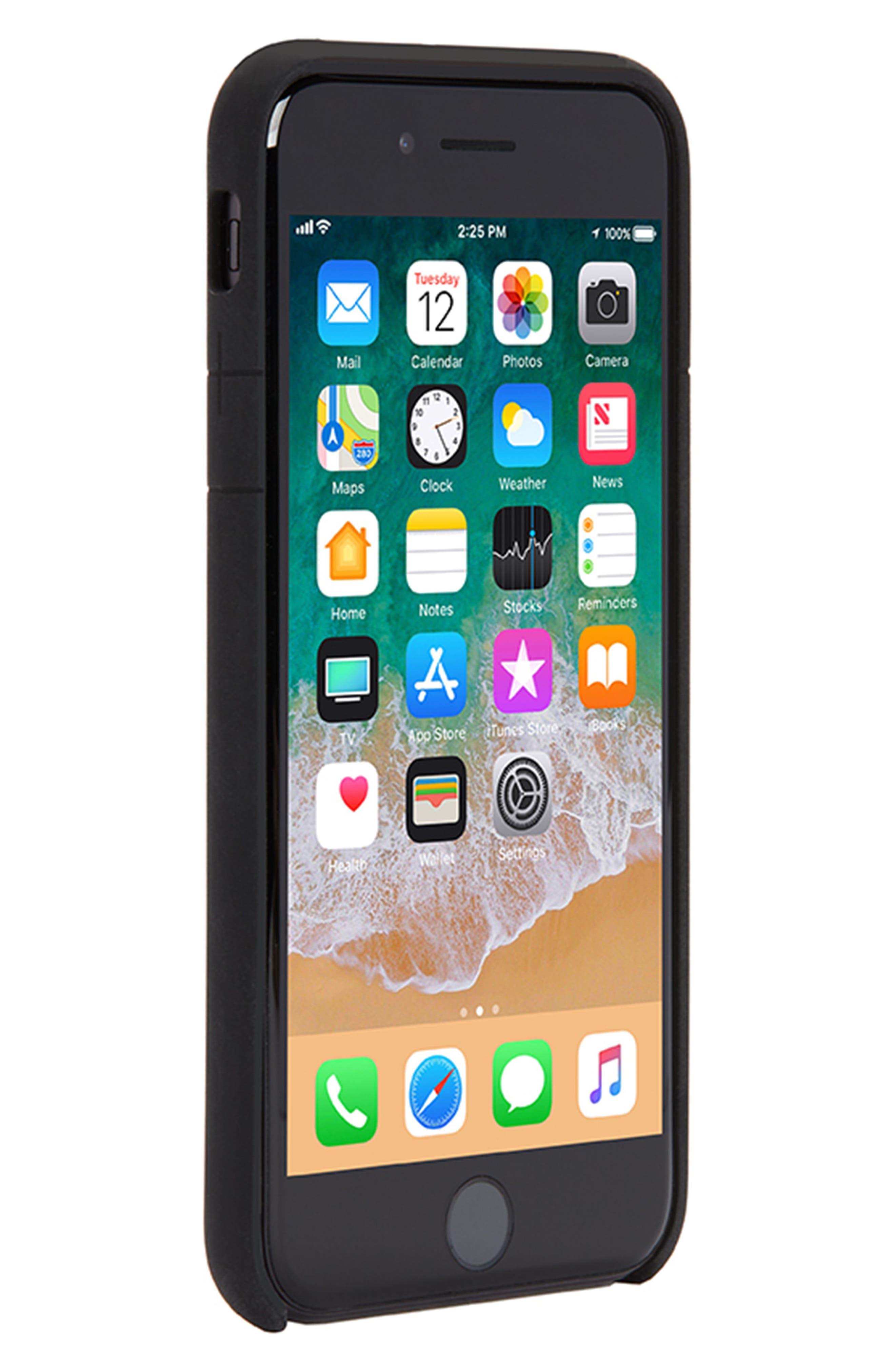 Facet iPhone 7/8 Case,                             Alternate thumbnail 4, color,                             Black