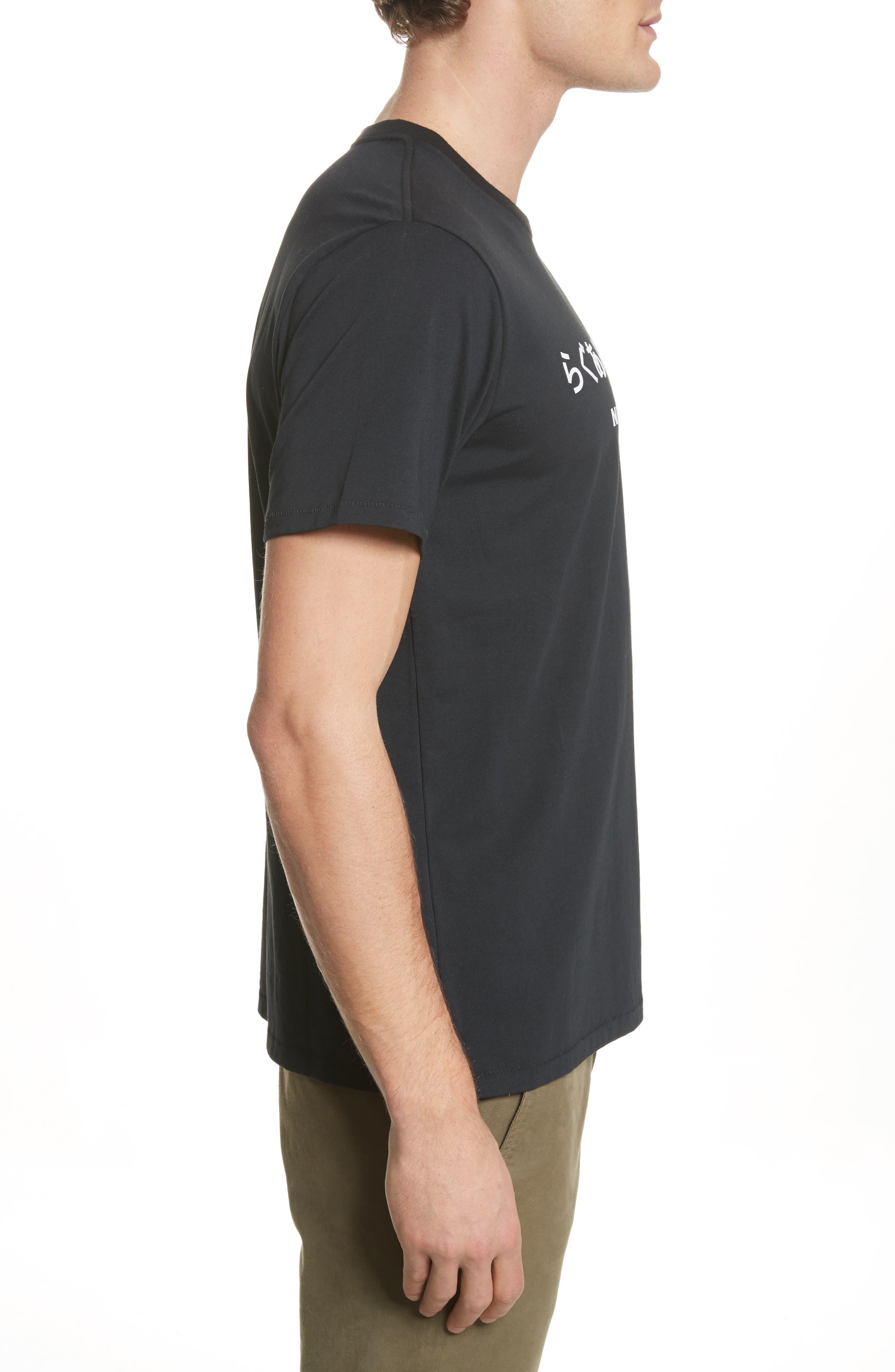 Japan Graphic T-Shirt,                             Alternate thumbnail 3, color,                             Black