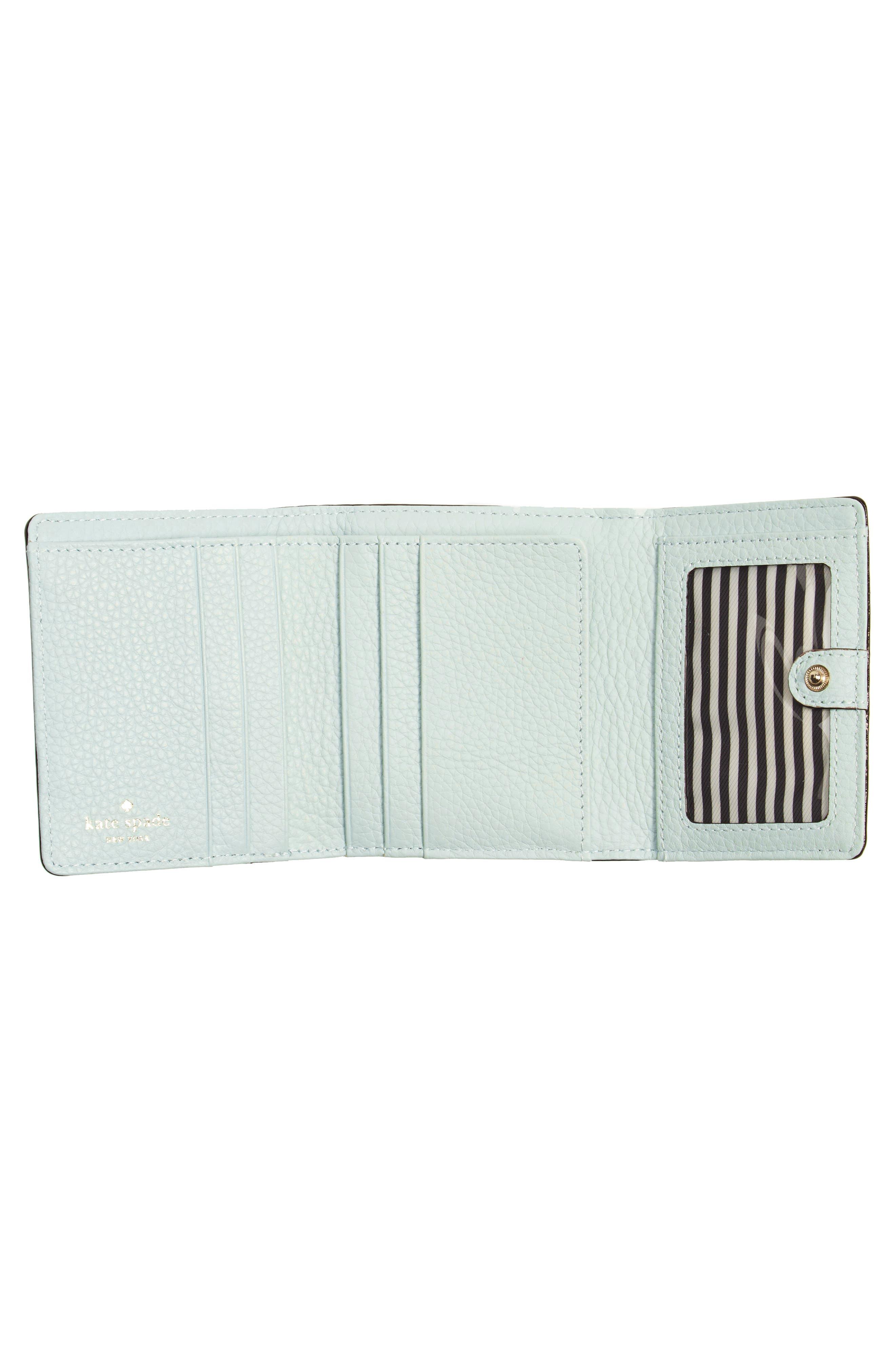 jackson street jada leather wallet,                             Alternate thumbnail 4, color,                             Misty Mint