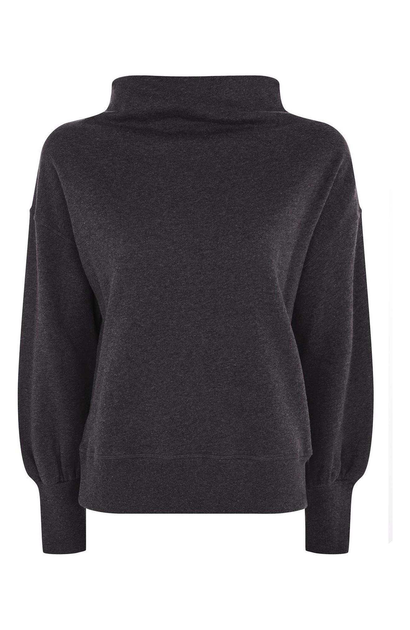 Topshop Boutique Slash Neck Sweatshirt