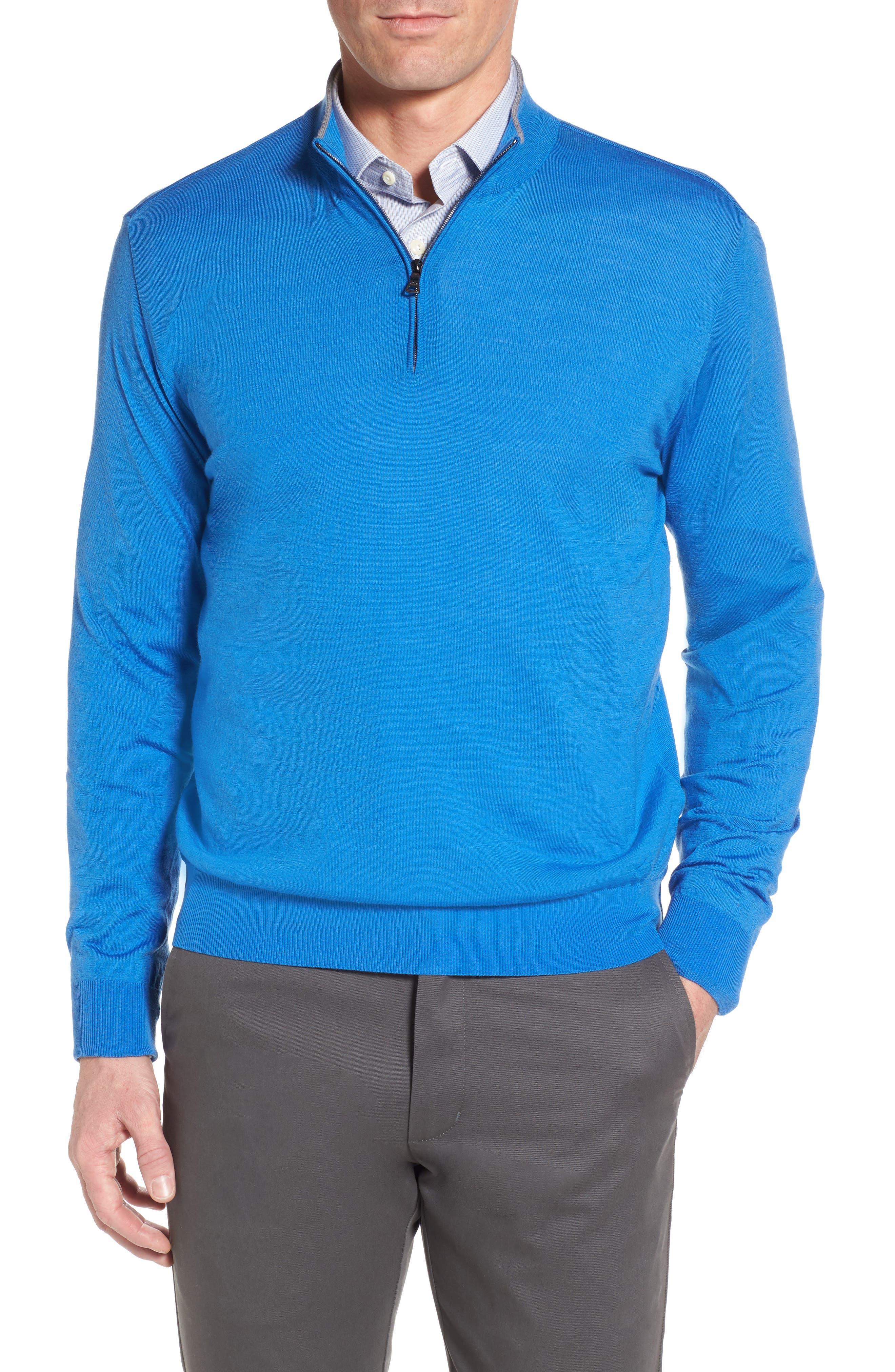 Alternate Image 1 Selected - Paul & Shark Quarter Zip Wool Pullover