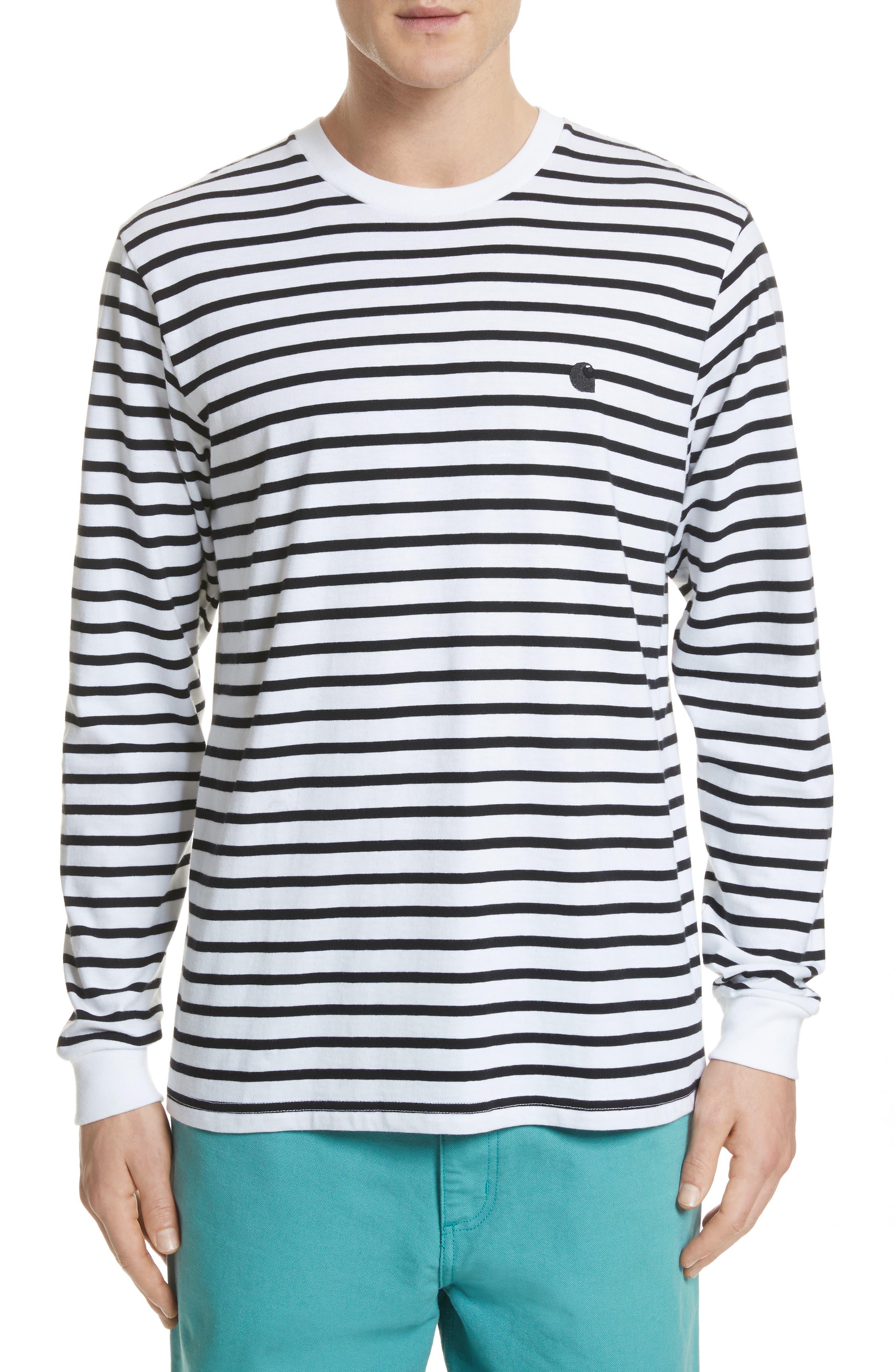 Alternate Image 1 Selected - Carhartt Work in Progress Stripe Long Sleeve T-Shirt