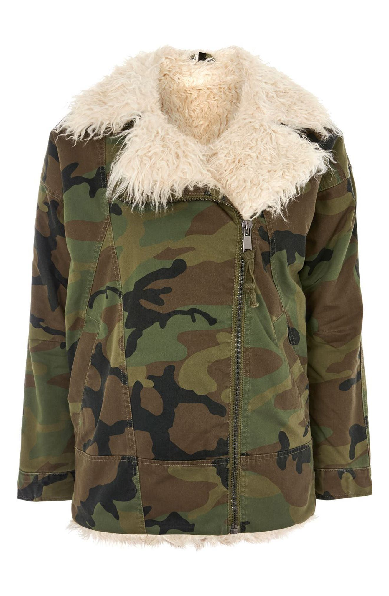 Jake Camouflage Jacket,                             Alternate thumbnail 4, color,                             Olive Multi