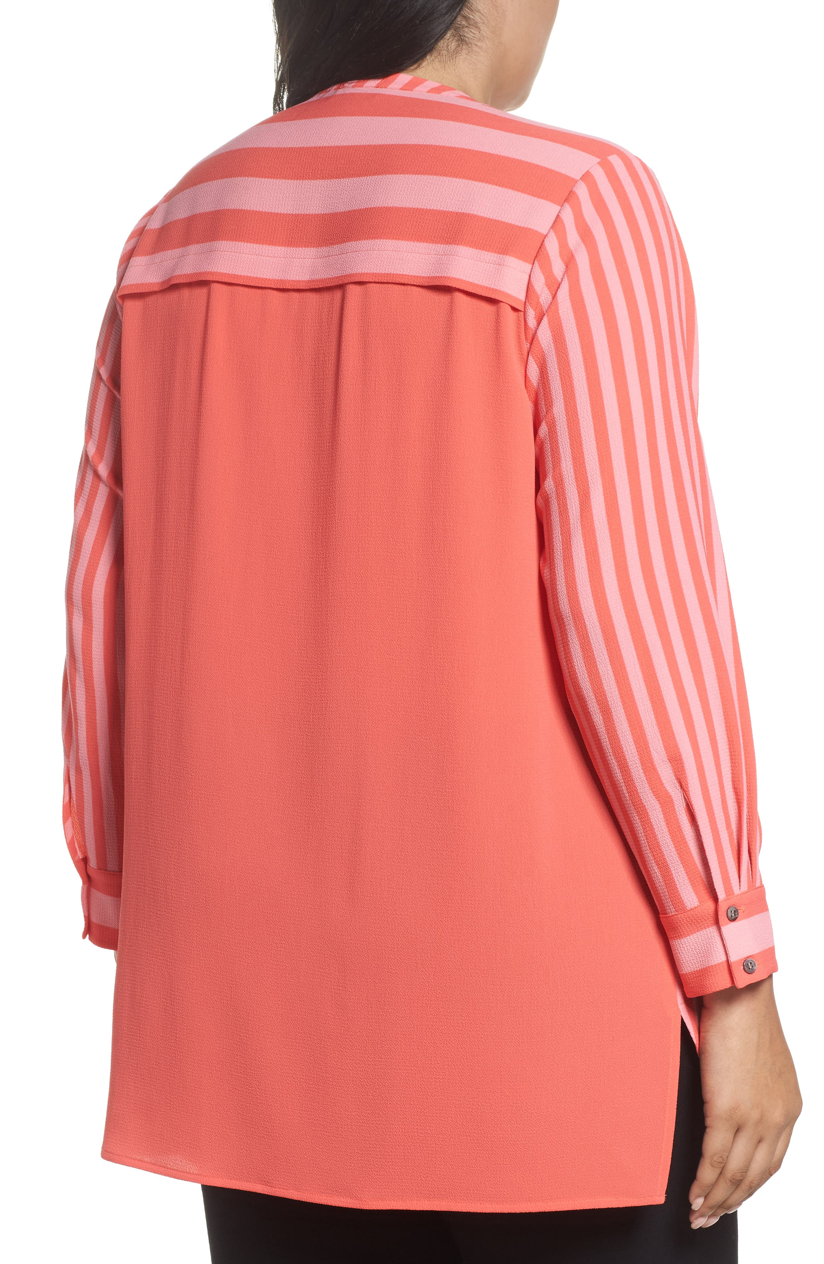 Alternate Image 2  - Vince Camuto Debut Mixed Media Tunic (Plus Size)