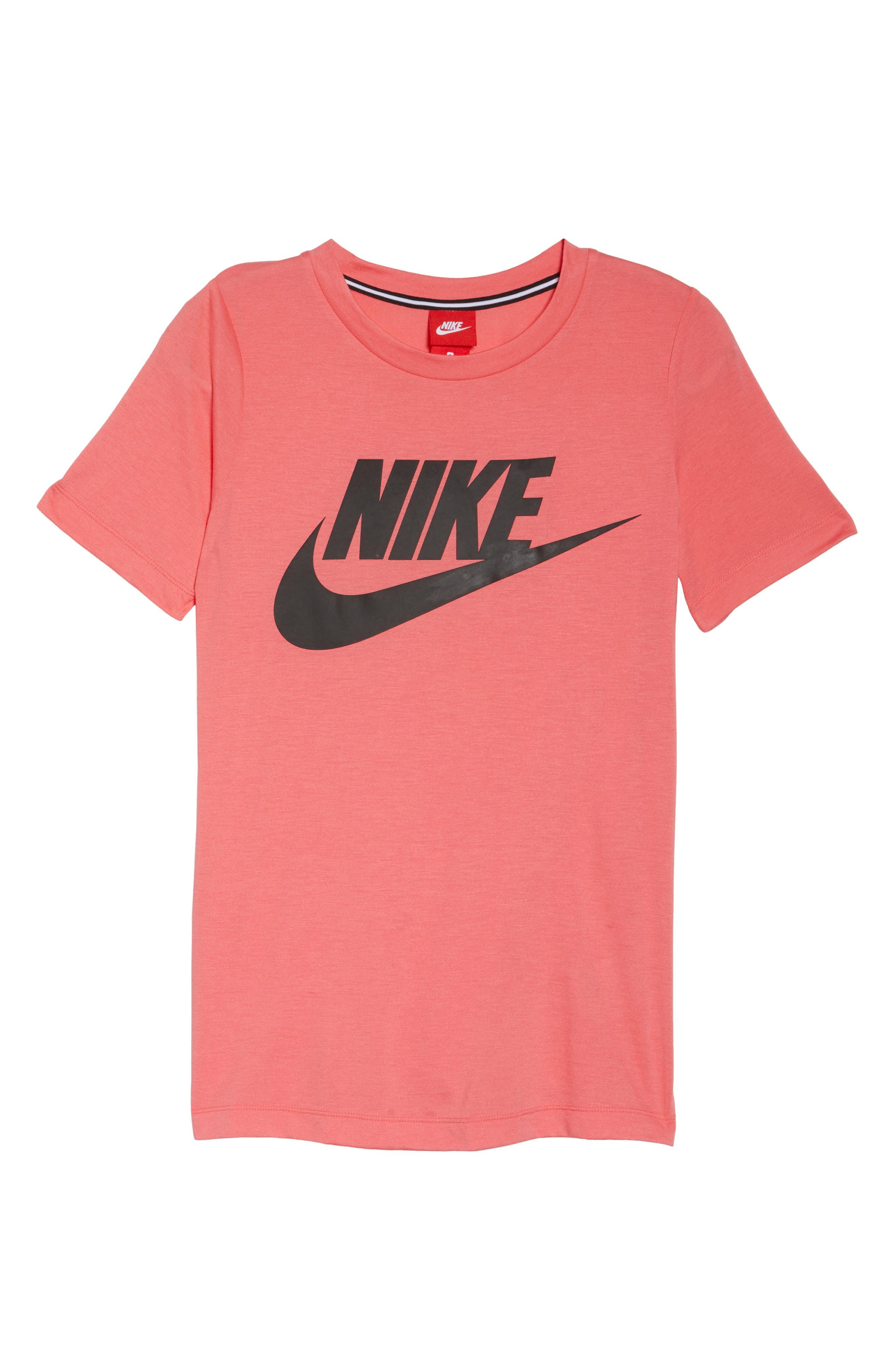 Sportswear Essential Tee,                             Alternate thumbnail 7, color,                             Sea Coral/ Sea Coral/ Black