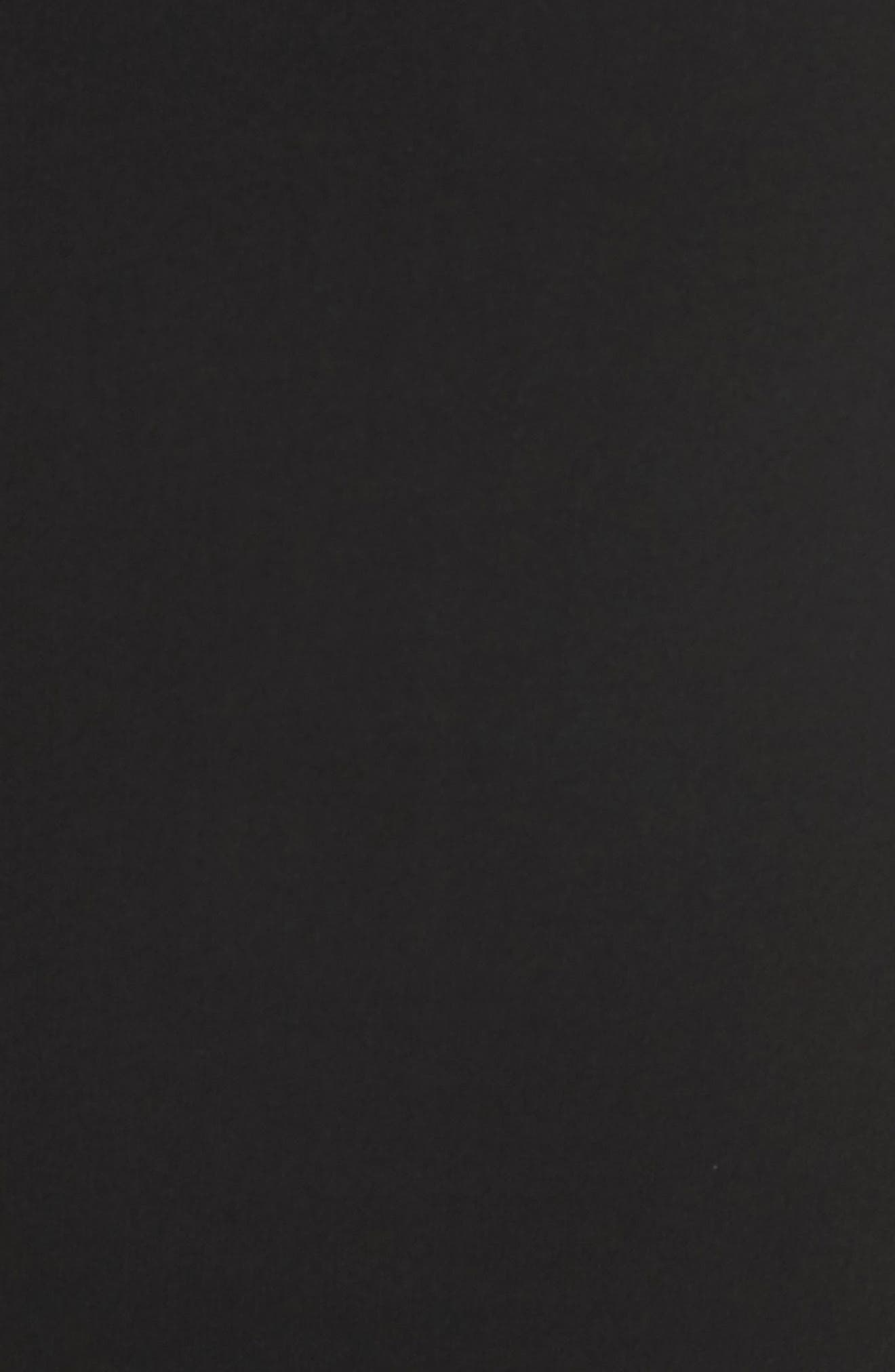 Sarong Midi Skirt,                             Alternate thumbnail 6, color,                             Black