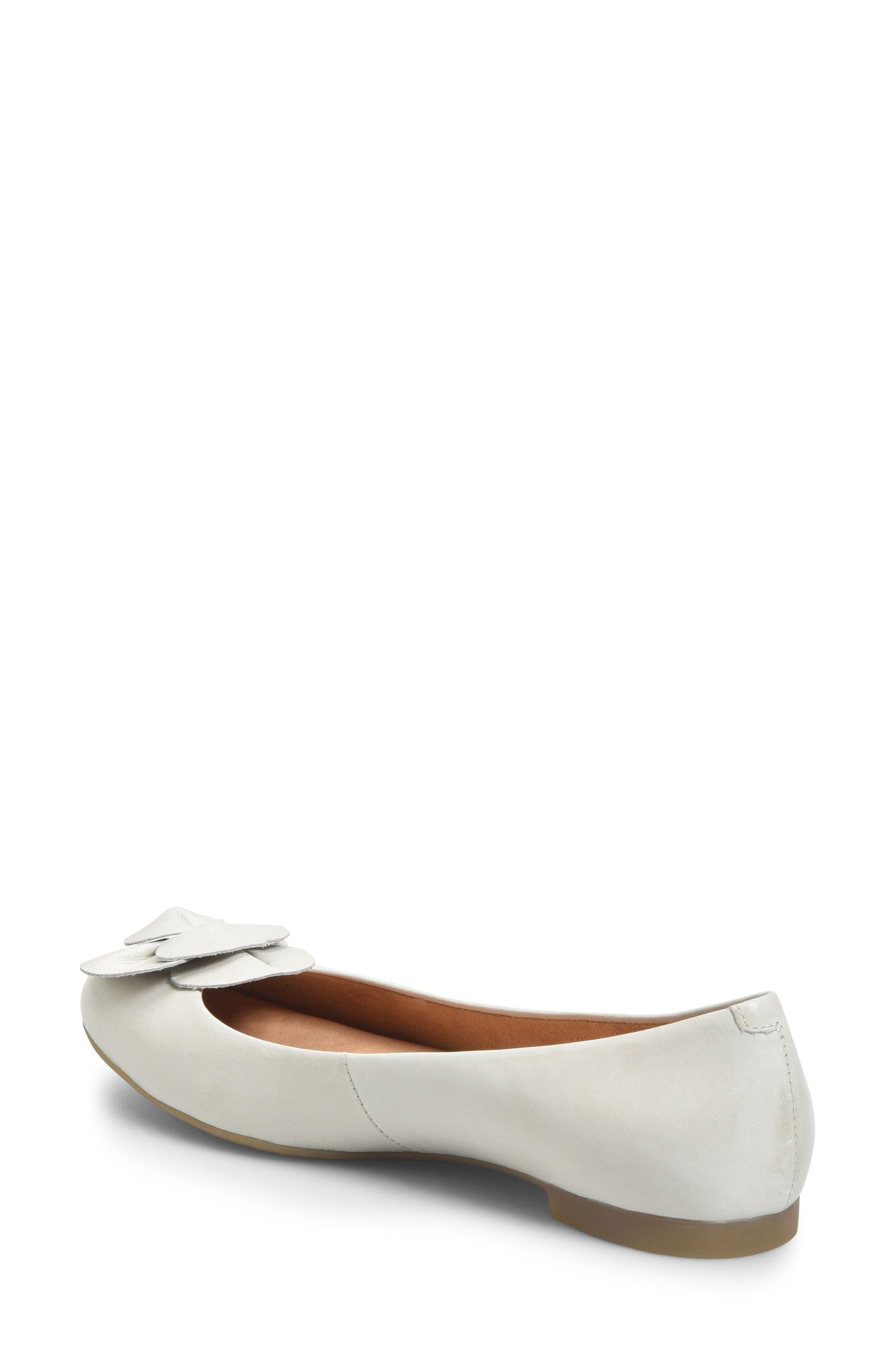 Annelie Flat,                             Alternate thumbnail 2, color,                             White Leather