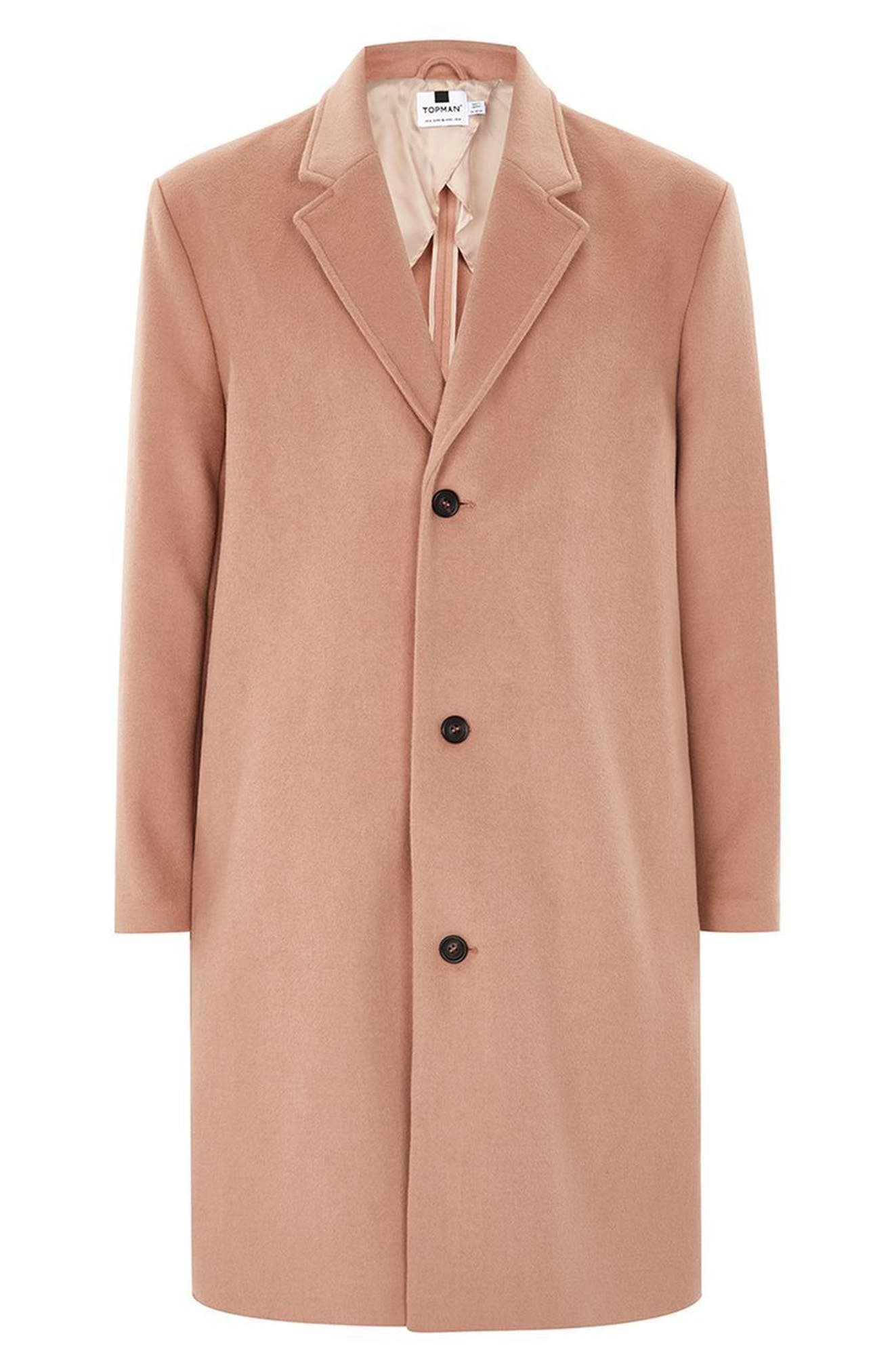 Oversized Single Breasted Coat,                             Alternate thumbnail 4, color,                             Pink
