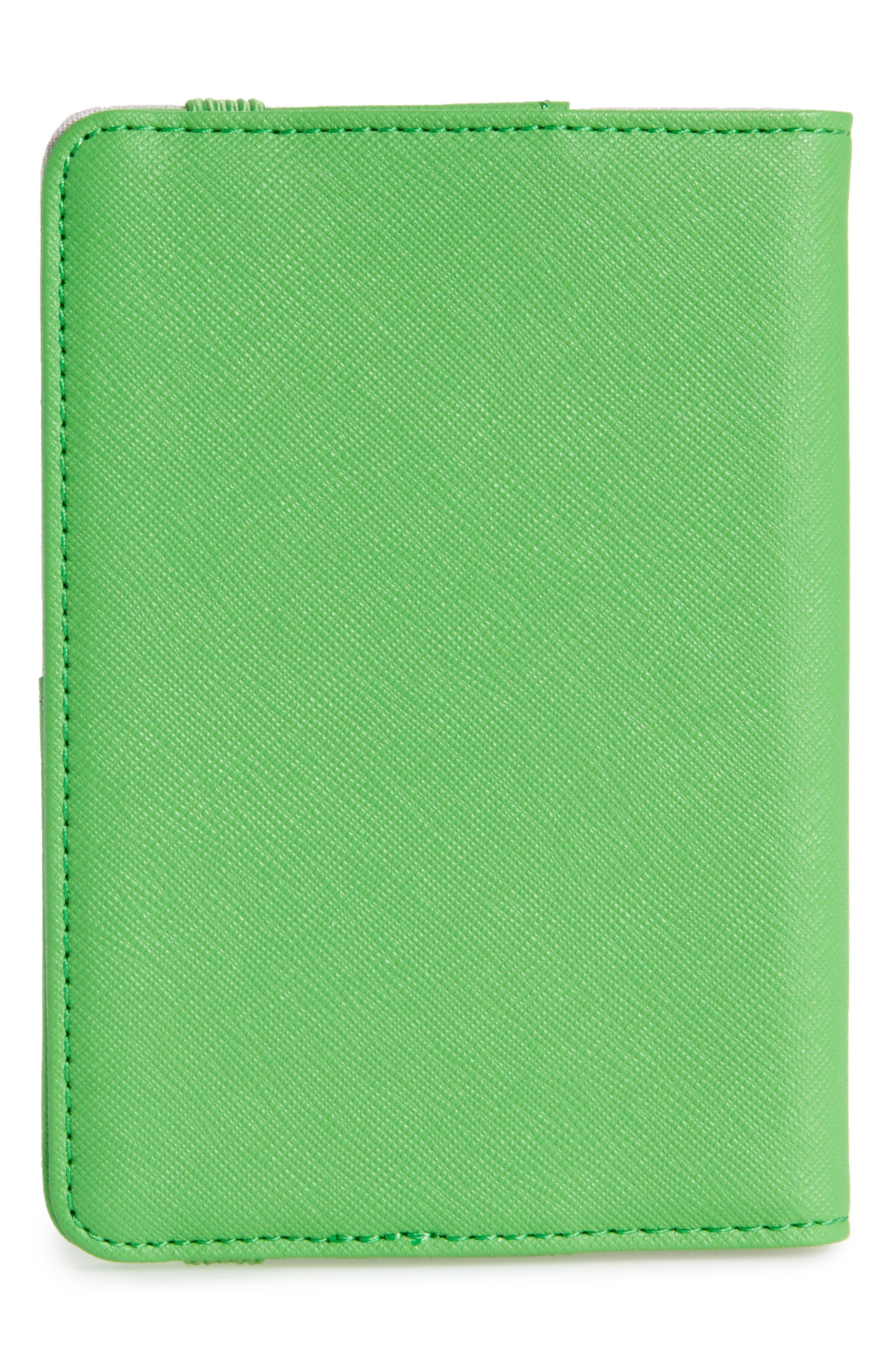 Correspondent Passport Cover,                             Alternate thumbnail 4, color,                             Green