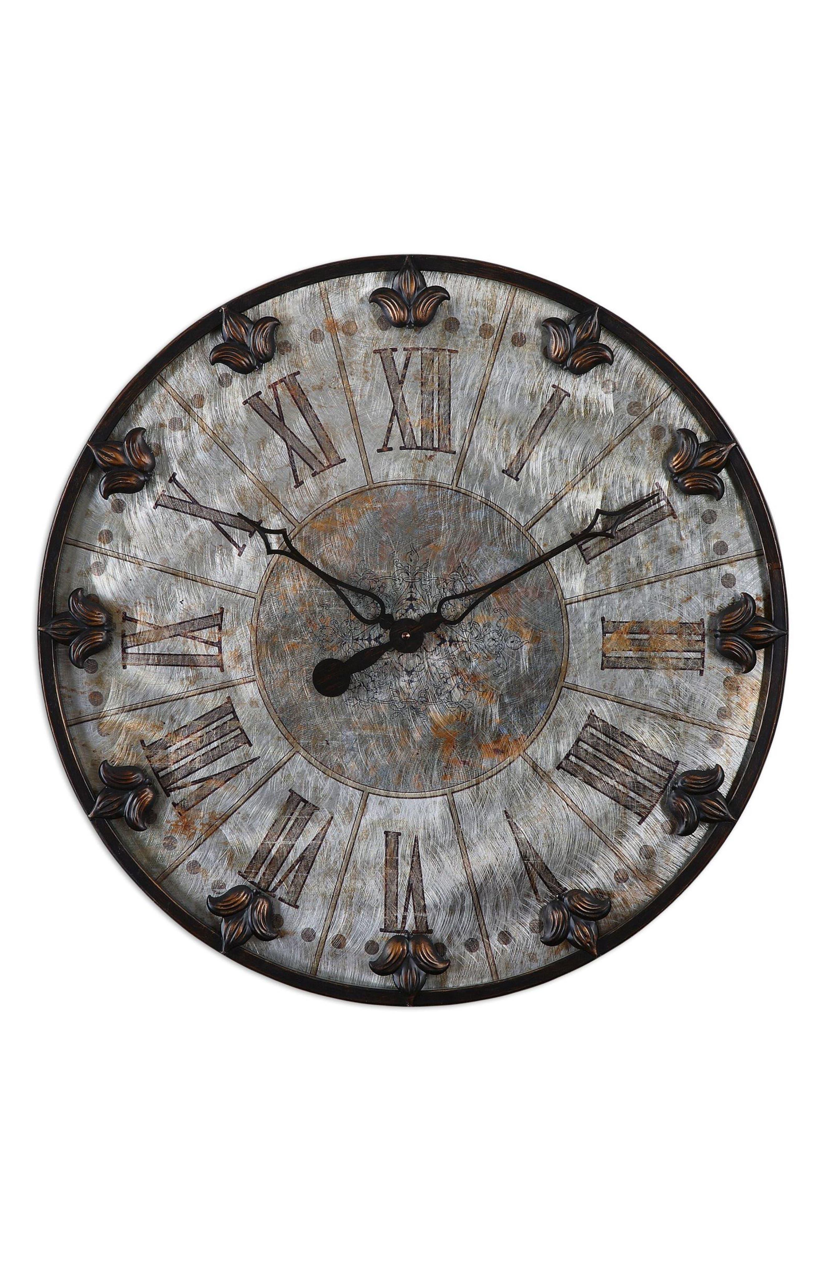 Artemis Wall Clock,                             Main thumbnail 1, color,                             Metallic Rust/ Copper