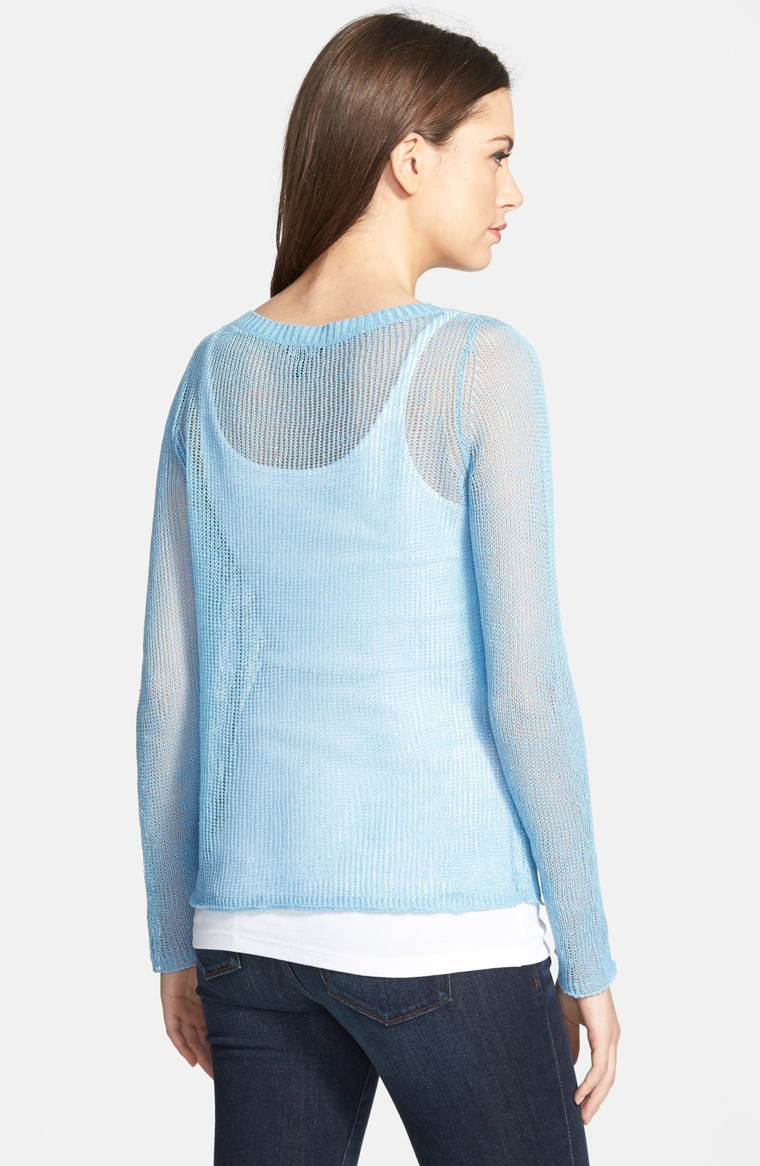 Alternate Image 2  - Eileen Fisher Linen Bateau Neck Boxy Sweater (Online Only)