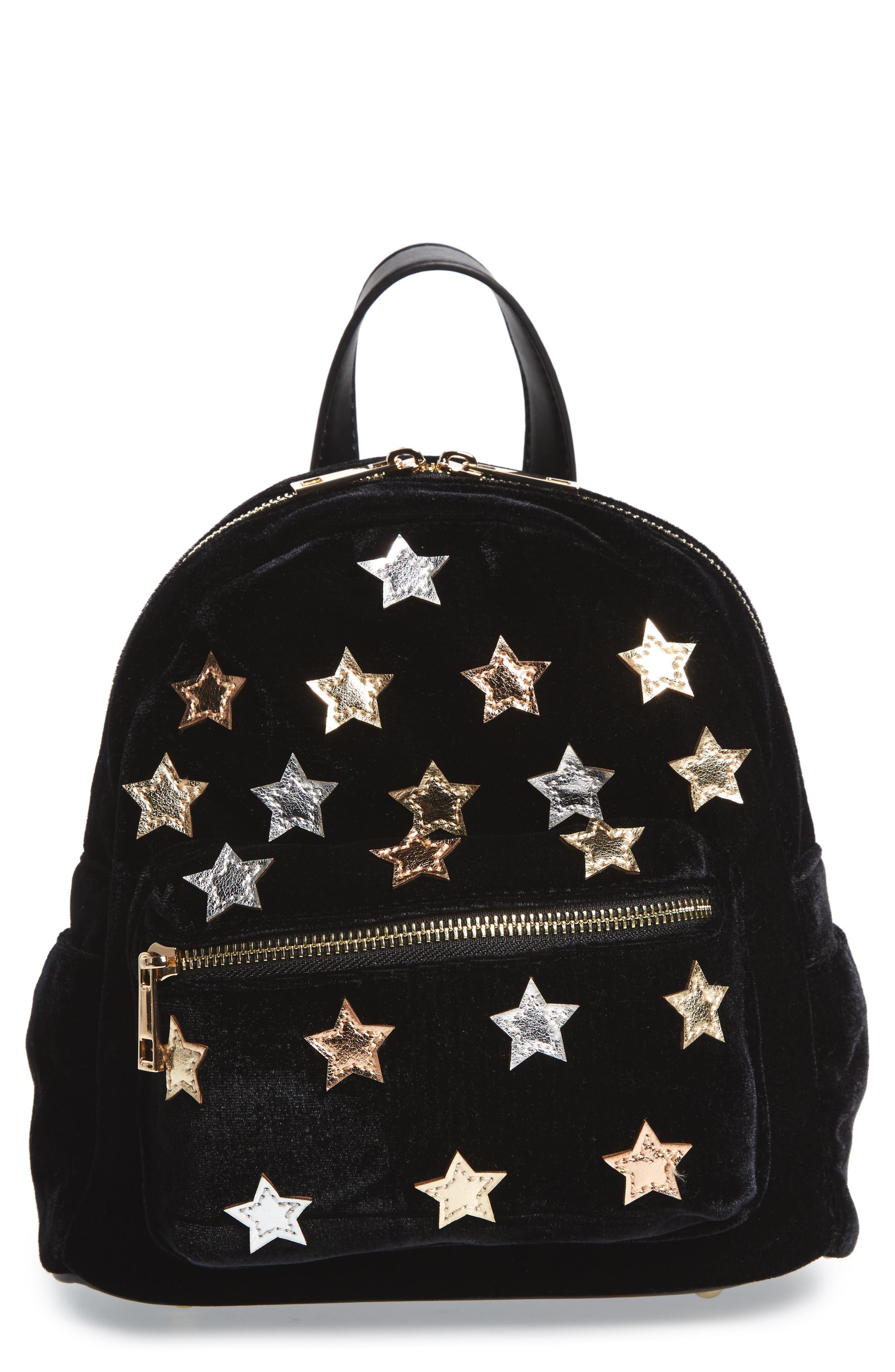 Star Mini Backpack,                             Main thumbnail 1, color,                             Black