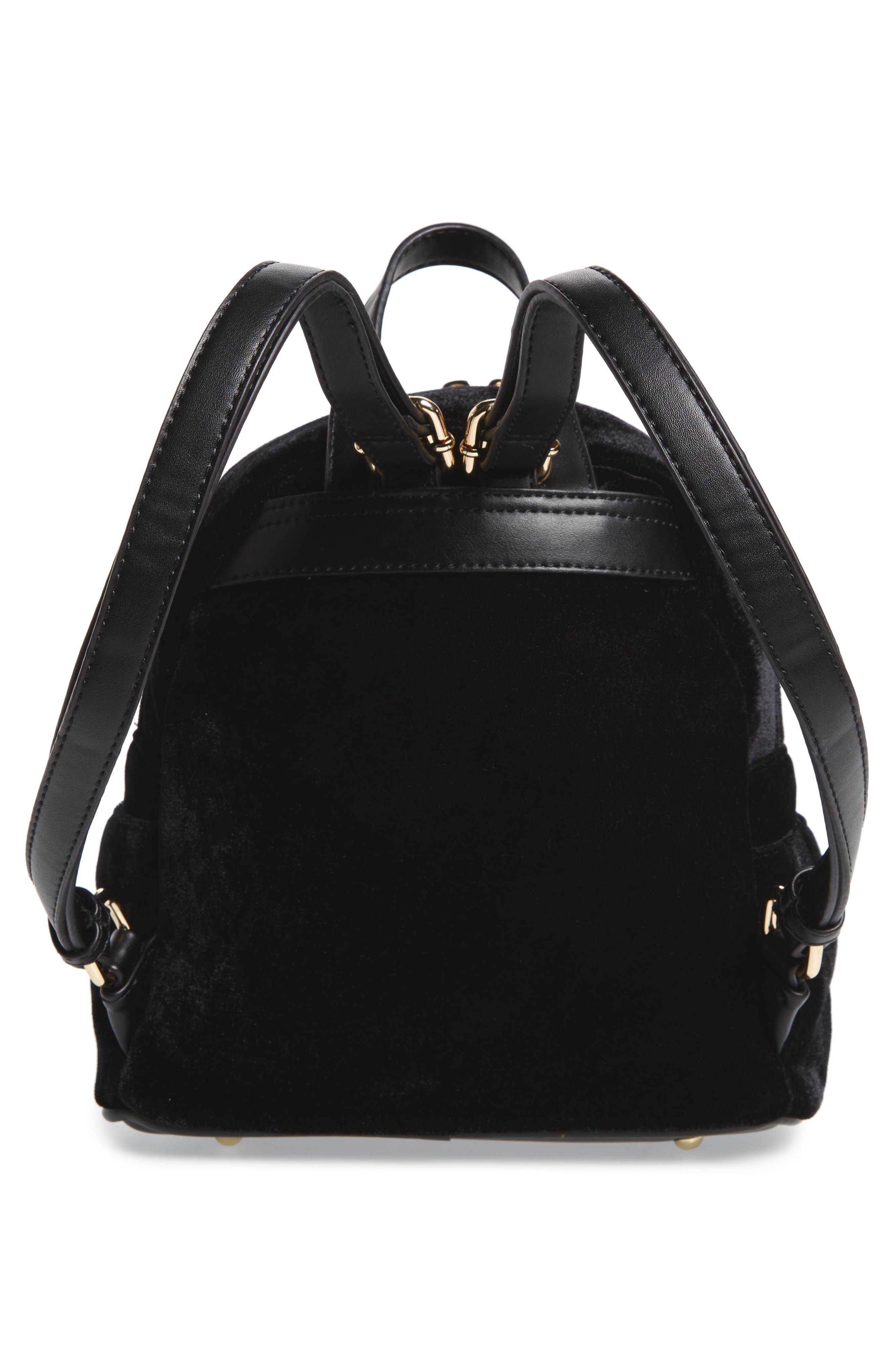 Star Mini Backpack,                             Alternate thumbnail 3, color,                             Black