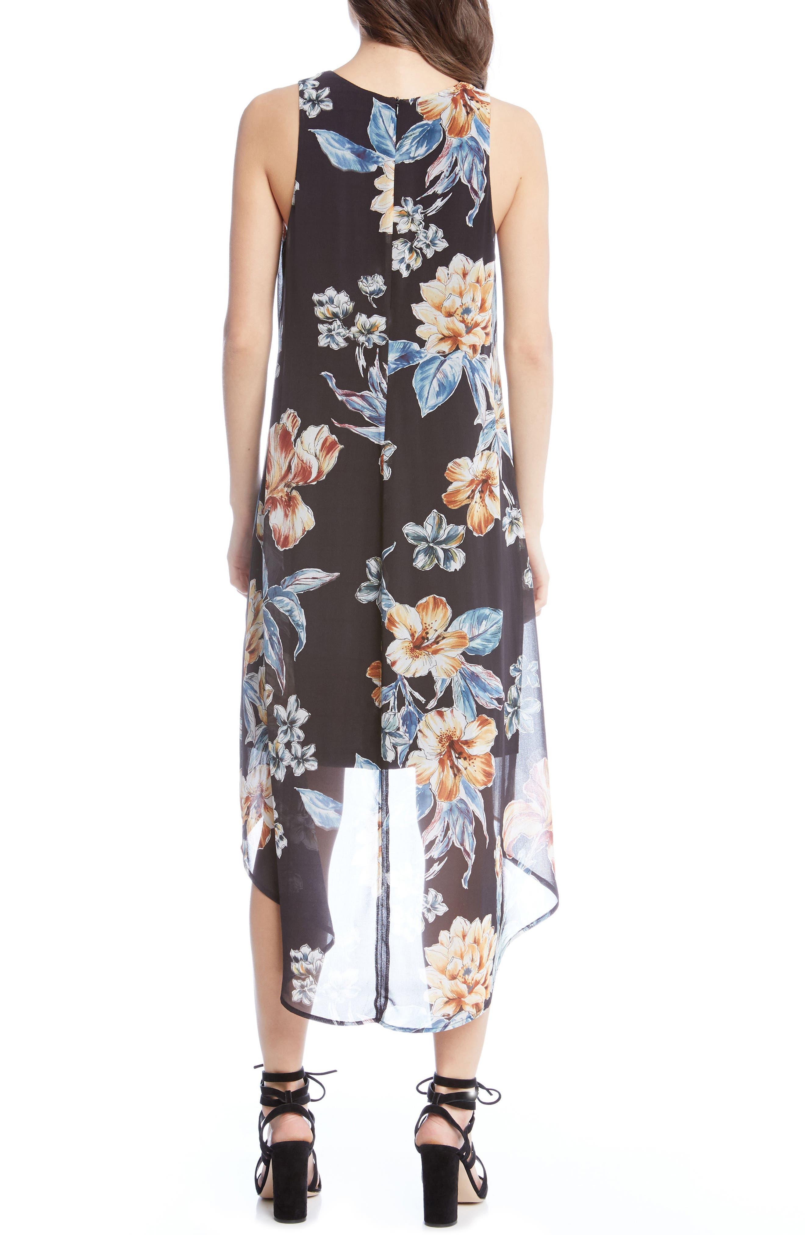 Alternate Image 3  - Karen Kane High/Low Floral A-Line Dress