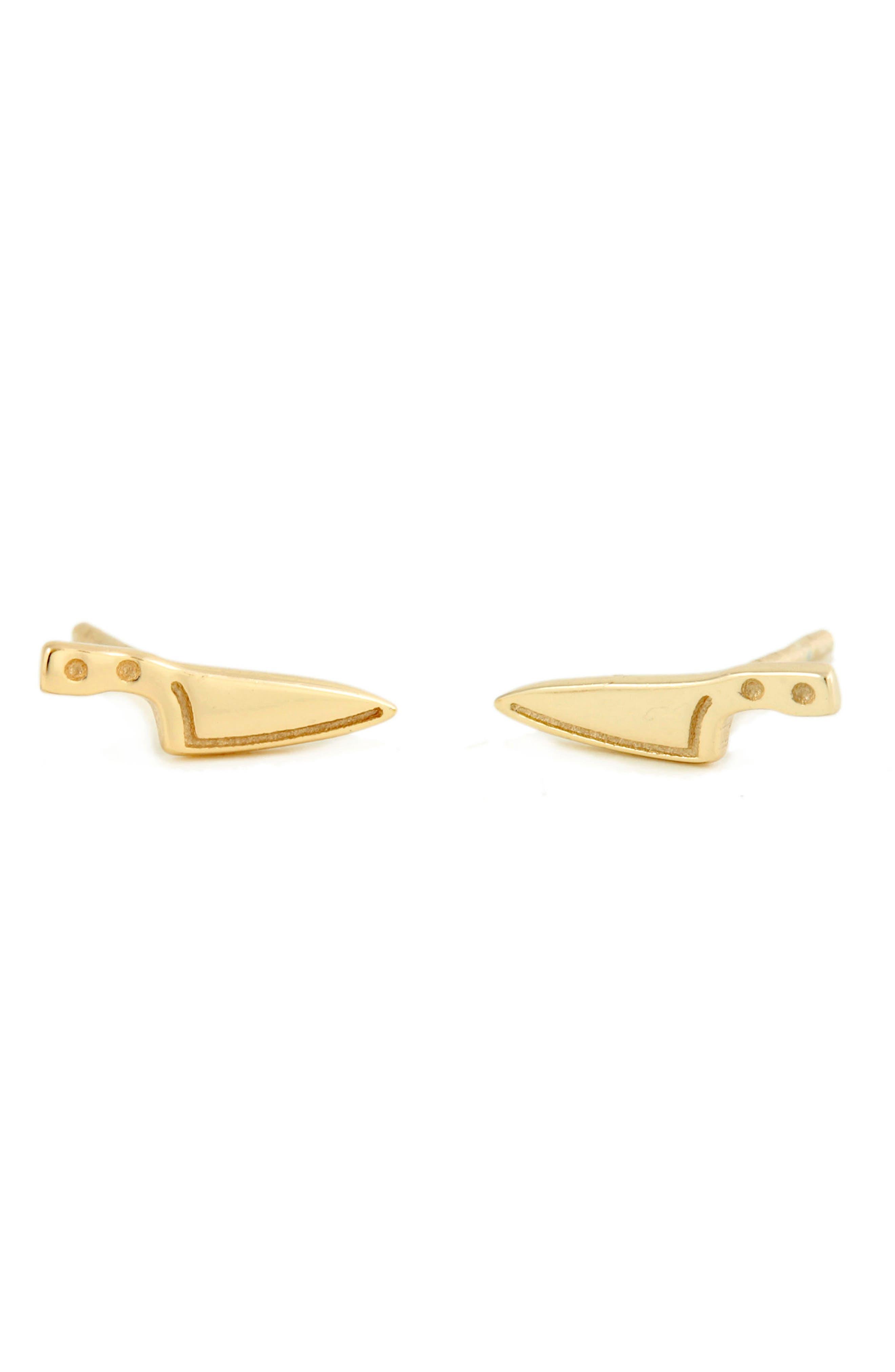 Kris Nations Knife Stud Earrings