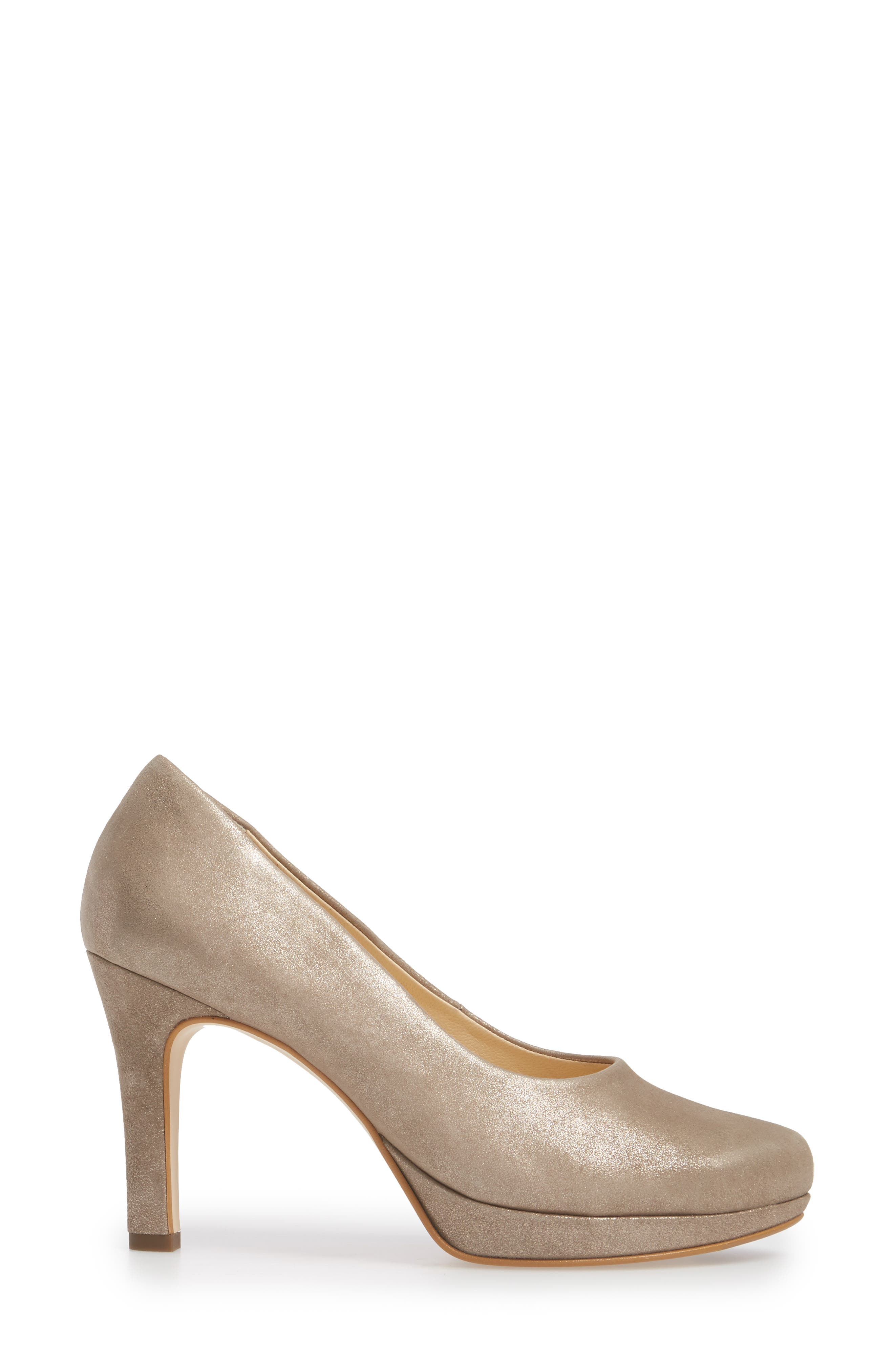 Sabrina Pump,                             Alternate thumbnail 3, color,                             Champagne Suede