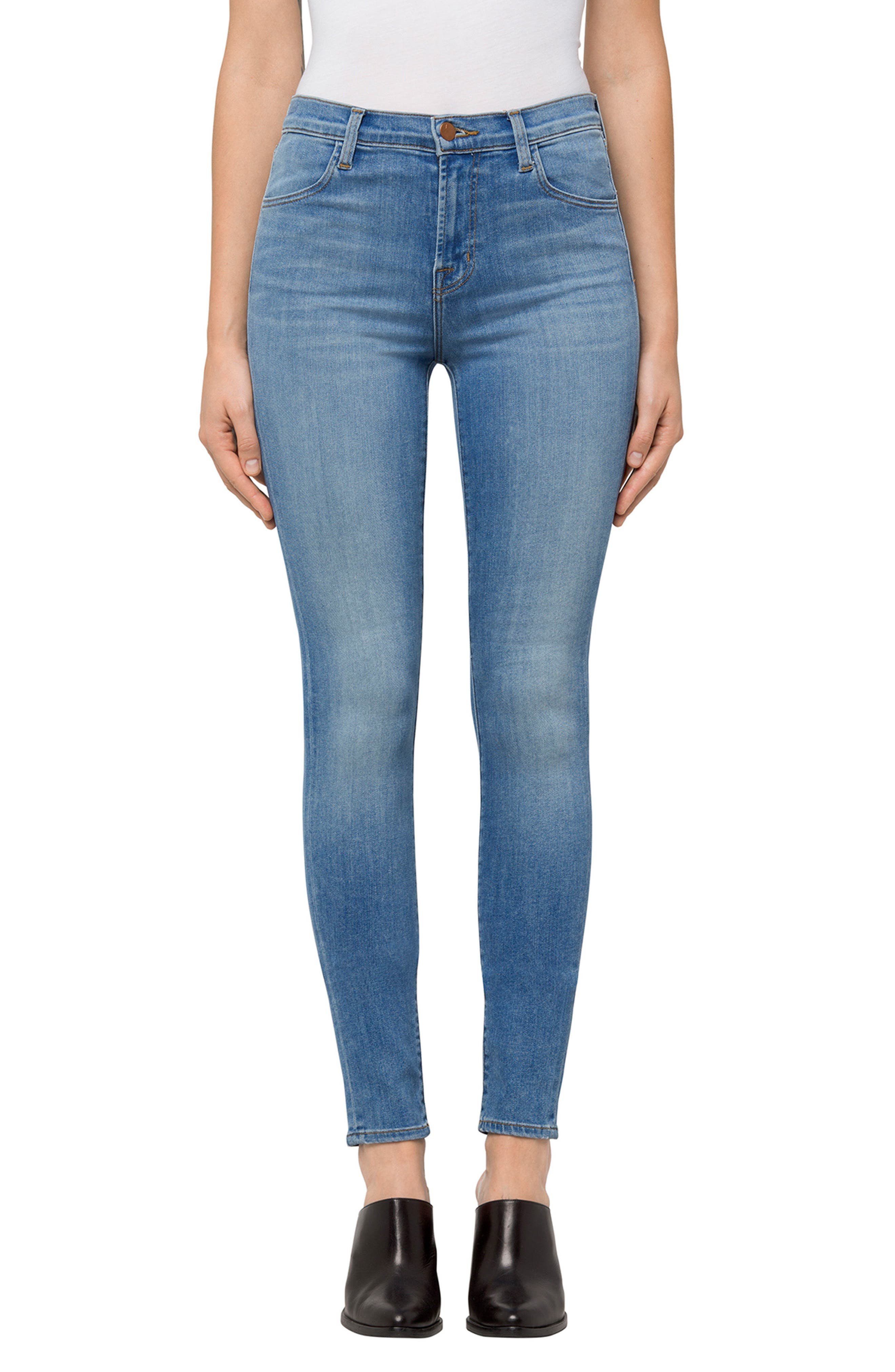 Maria High Waist Skinny Jeans,                         Main,                         color, Influential