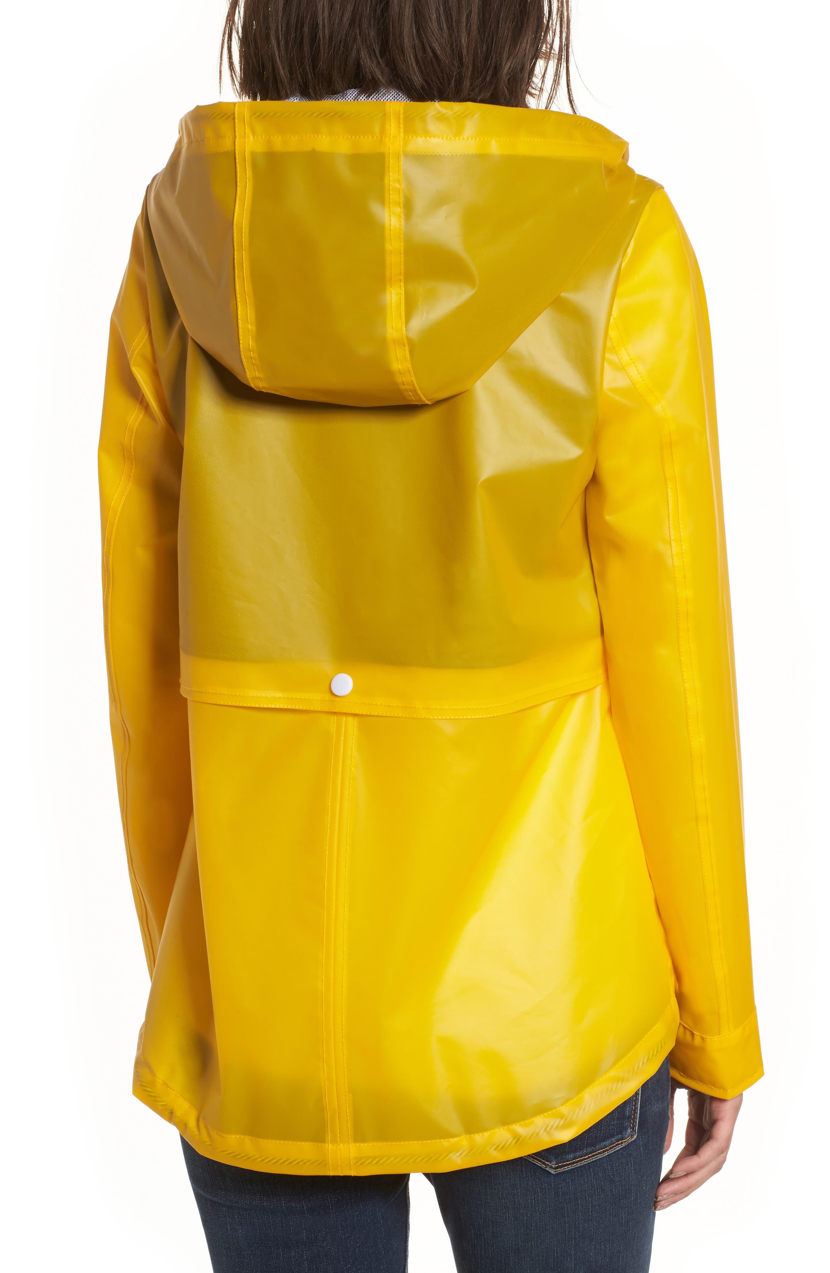 Water Resistant Raincoat,                             Alternate thumbnail 2, color,                             Banana