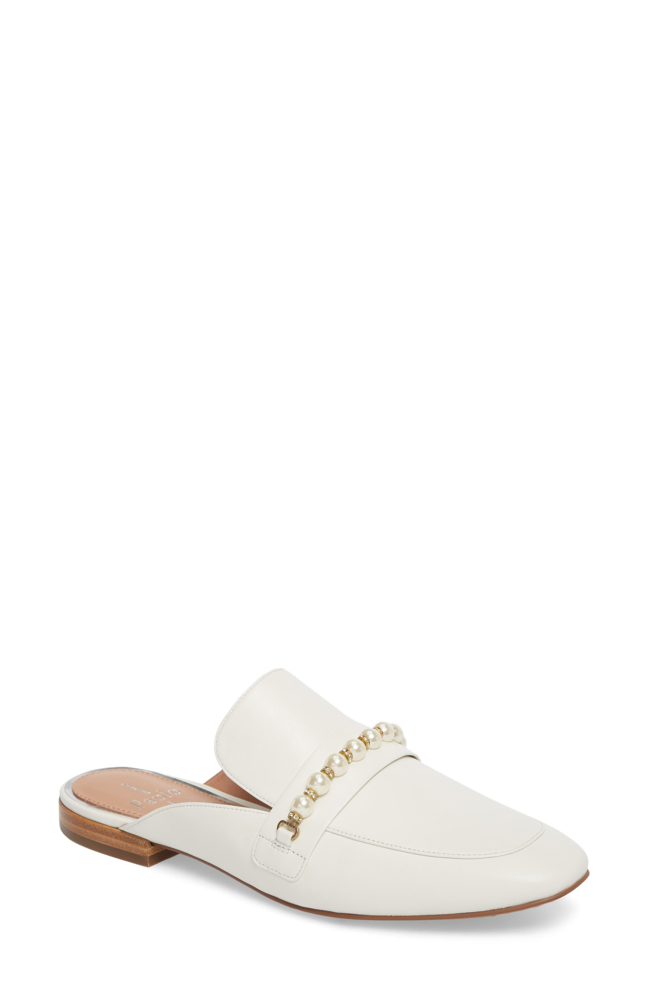 Axel Mule,                             Main thumbnail 1, color,                             Off White Leather