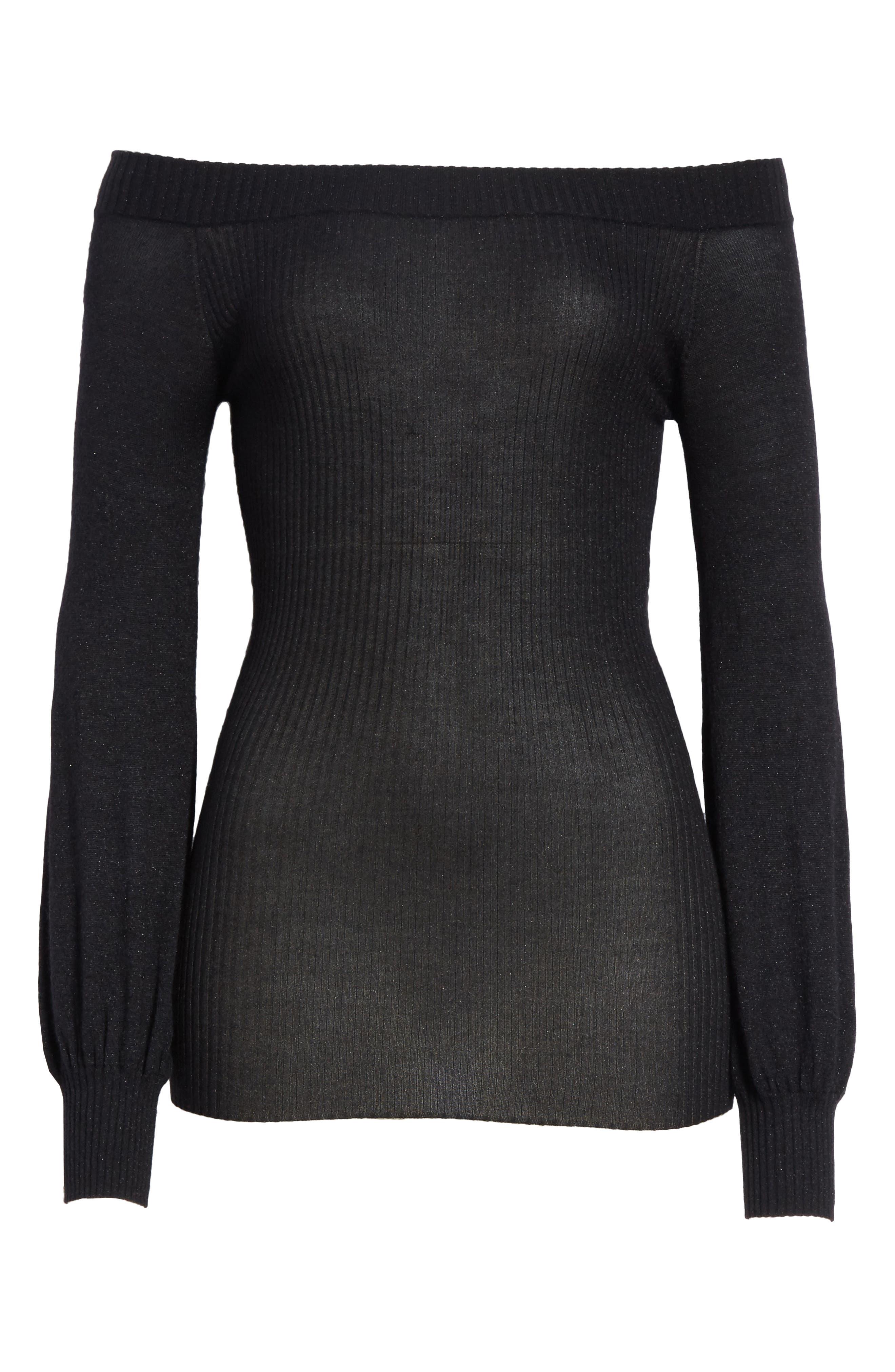 Alternate Image 6  - autumn cashmere Metallic Cashmere & Silk Blend Off the Shoulder Top
