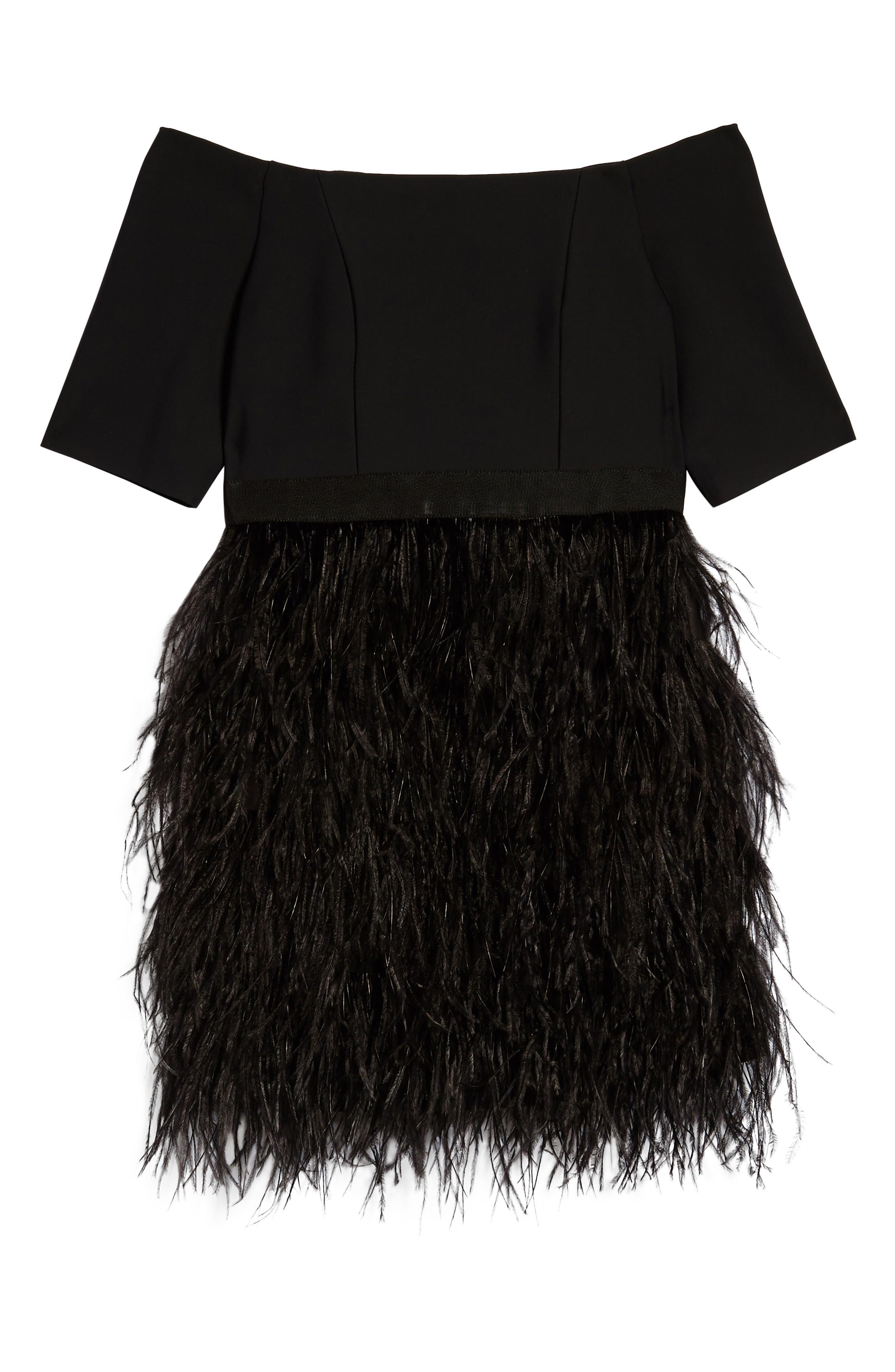 Megan Off the Shoulder Dress,                         Main,                         color, Black