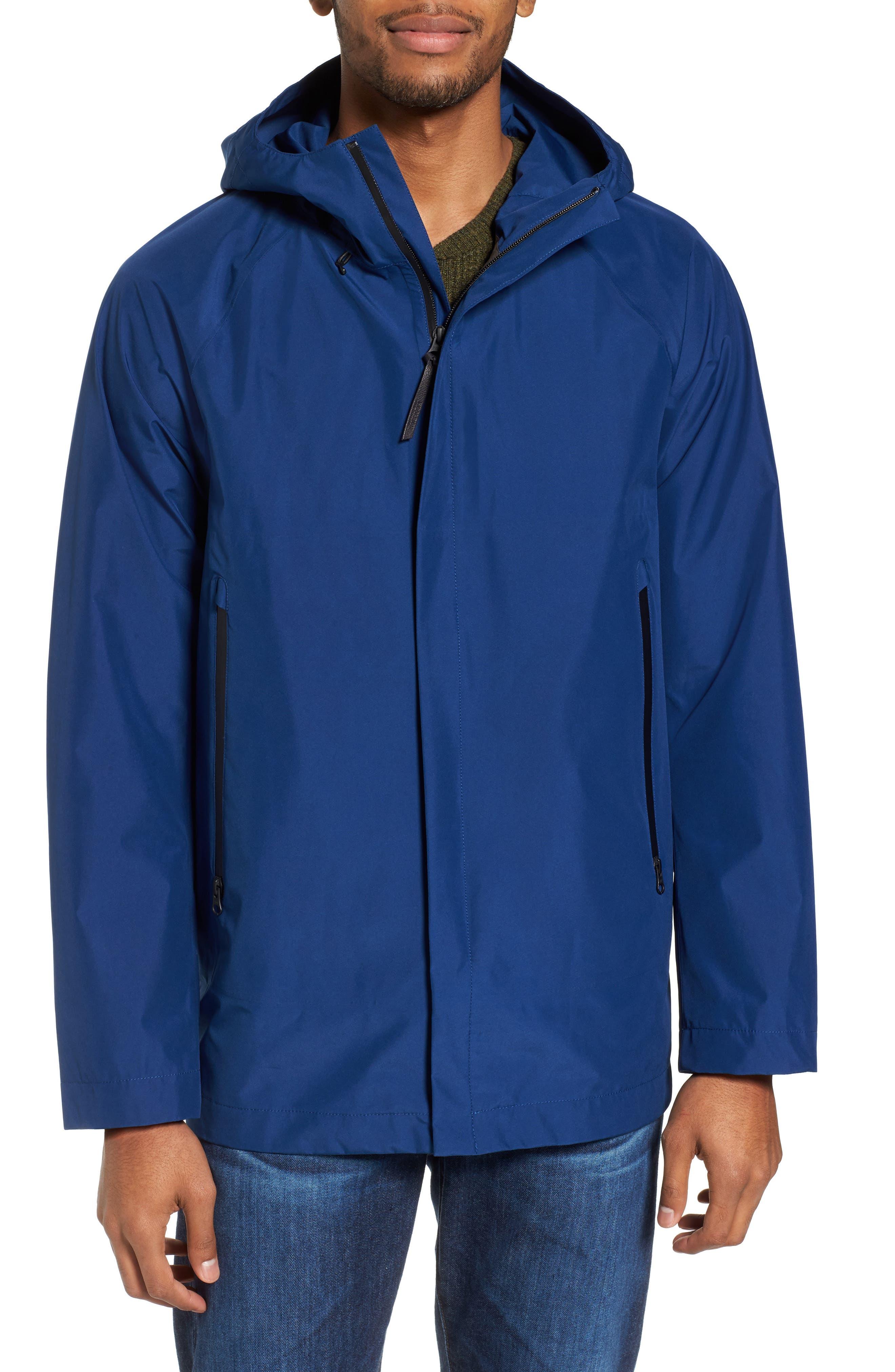 Atlantic Gore-Tex<sup>®</sup> Hooded Coat,                             Alternate thumbnail 4, color,                             Active Blue Ace