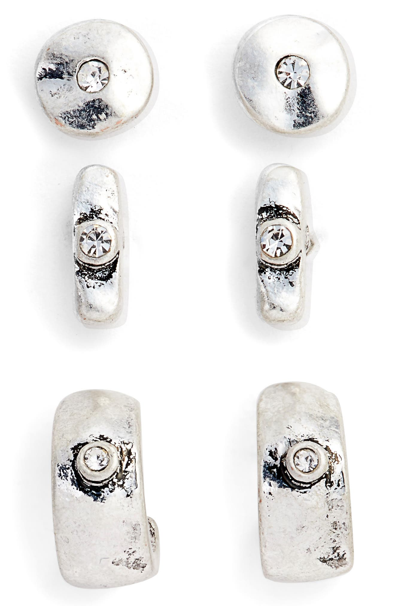 Main Image - Treasure & Bond Set of Three Stud Earrings
