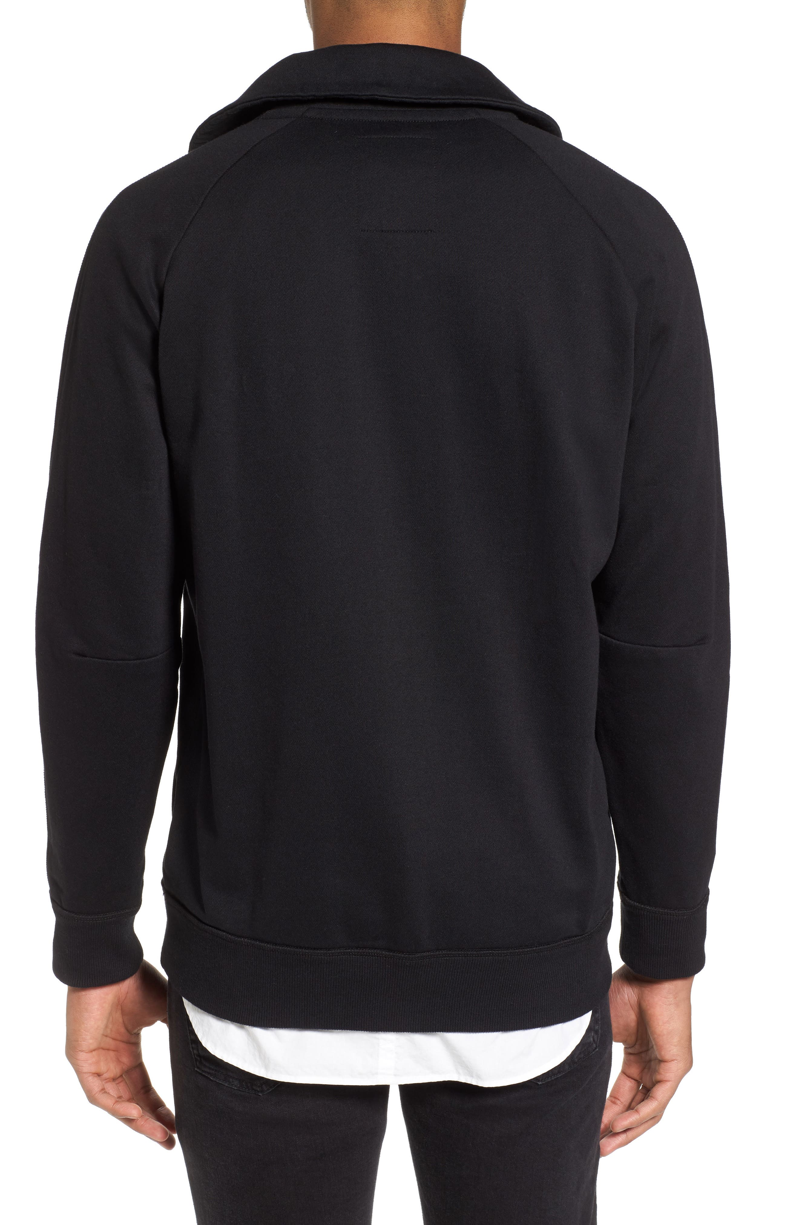 Empral Quarter Zip Pullover,                             Alternate thumbnail 2, color,                             Dark Black