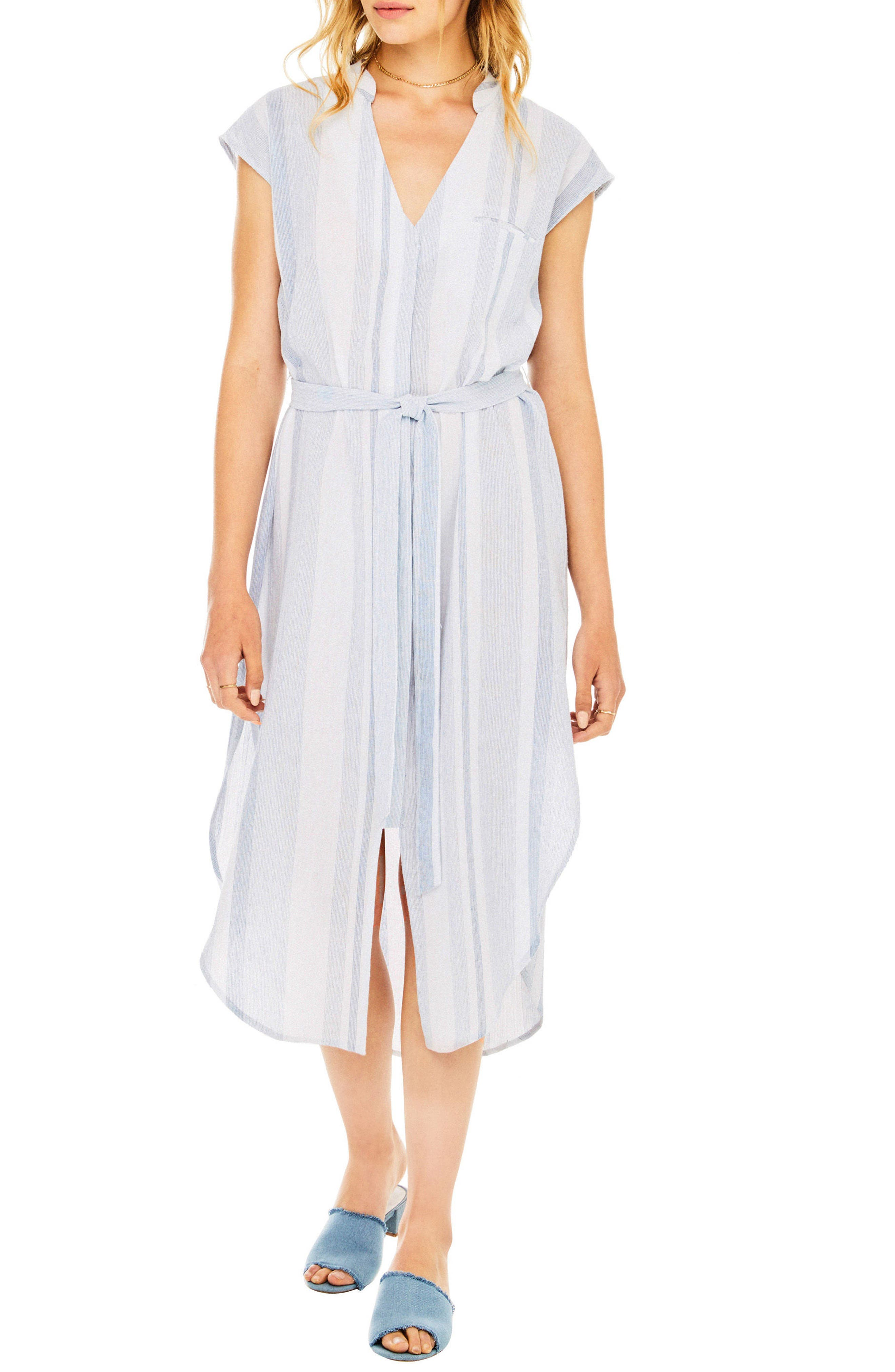 Sawyer Shirtdress,                         Main,                         color, Sky Blue Stripe