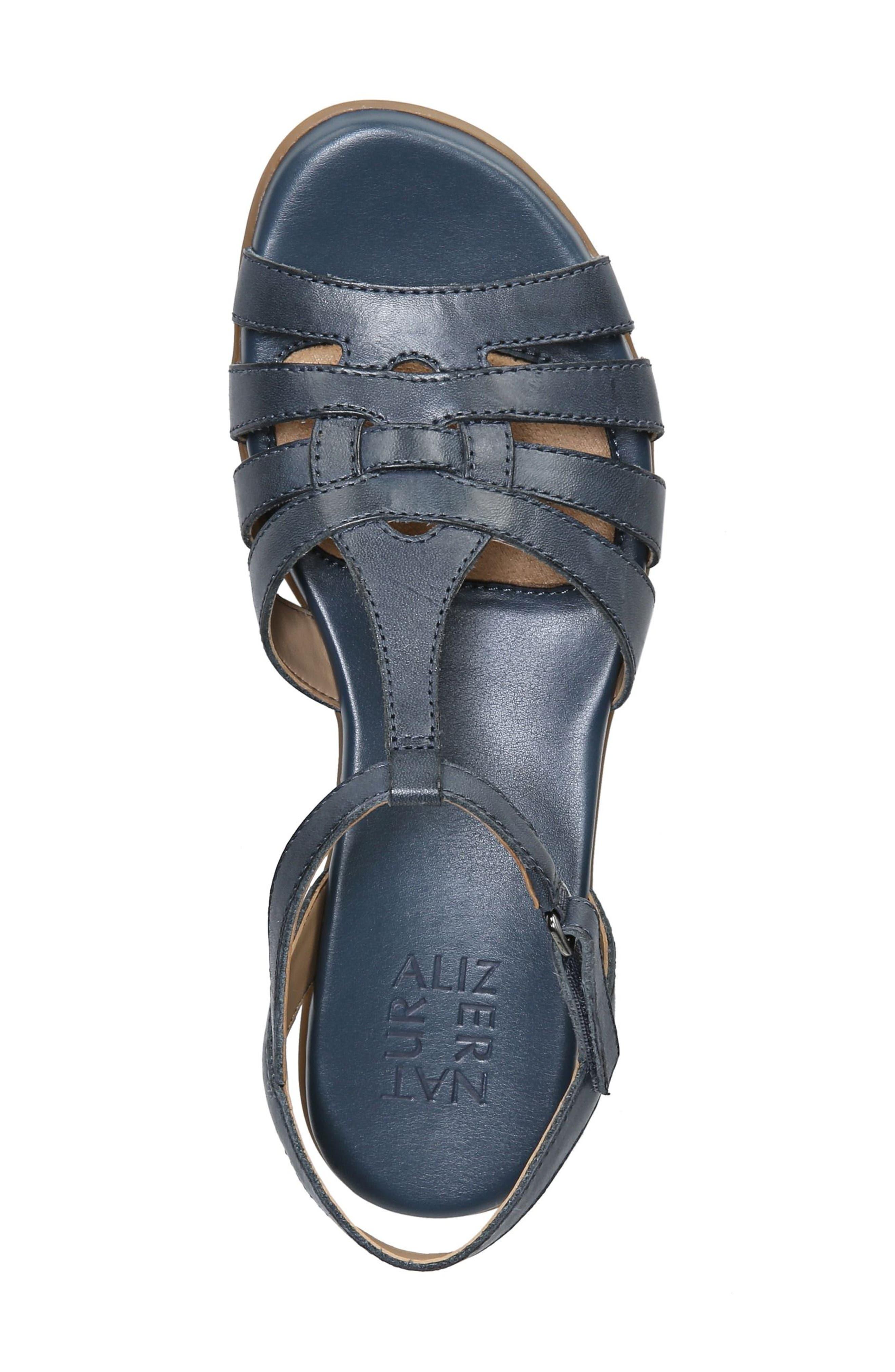 Nanci Sandal,                             Alternate thumbnail 5, color,                             Denim Leather