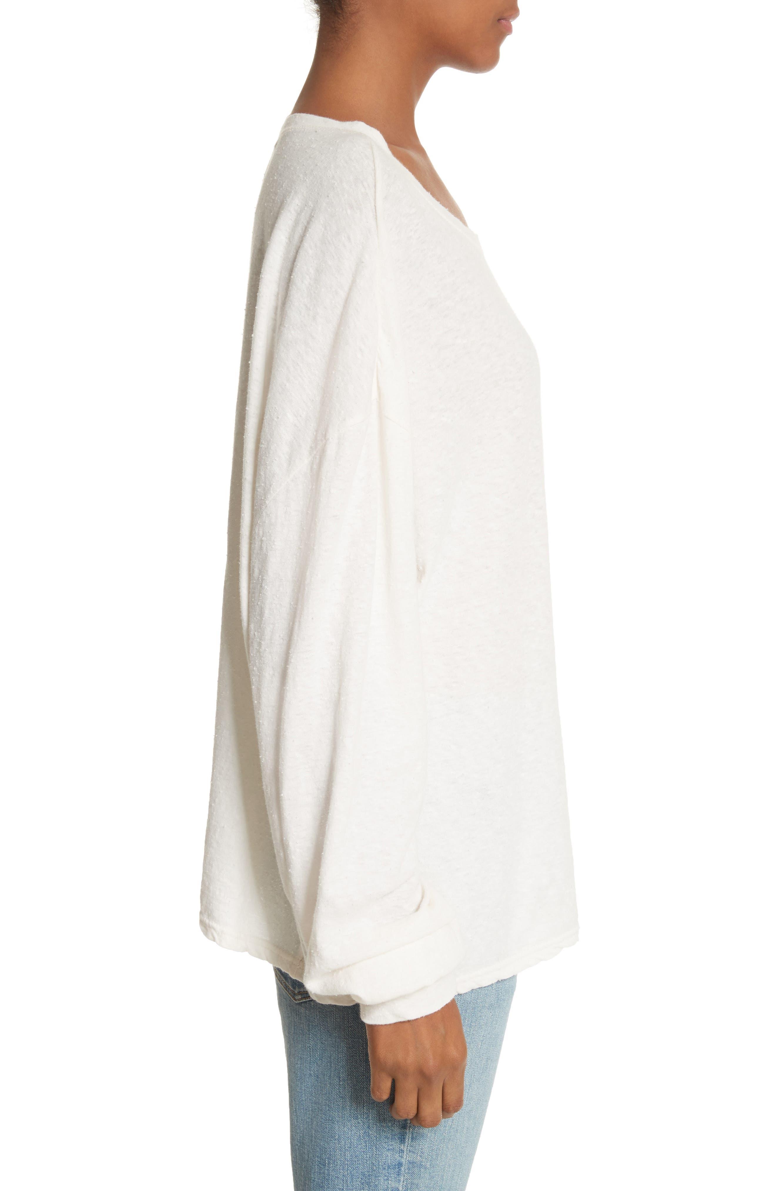 Solano Oversize Cotton Top,                             Alternate thumbnail 3, color,                             White