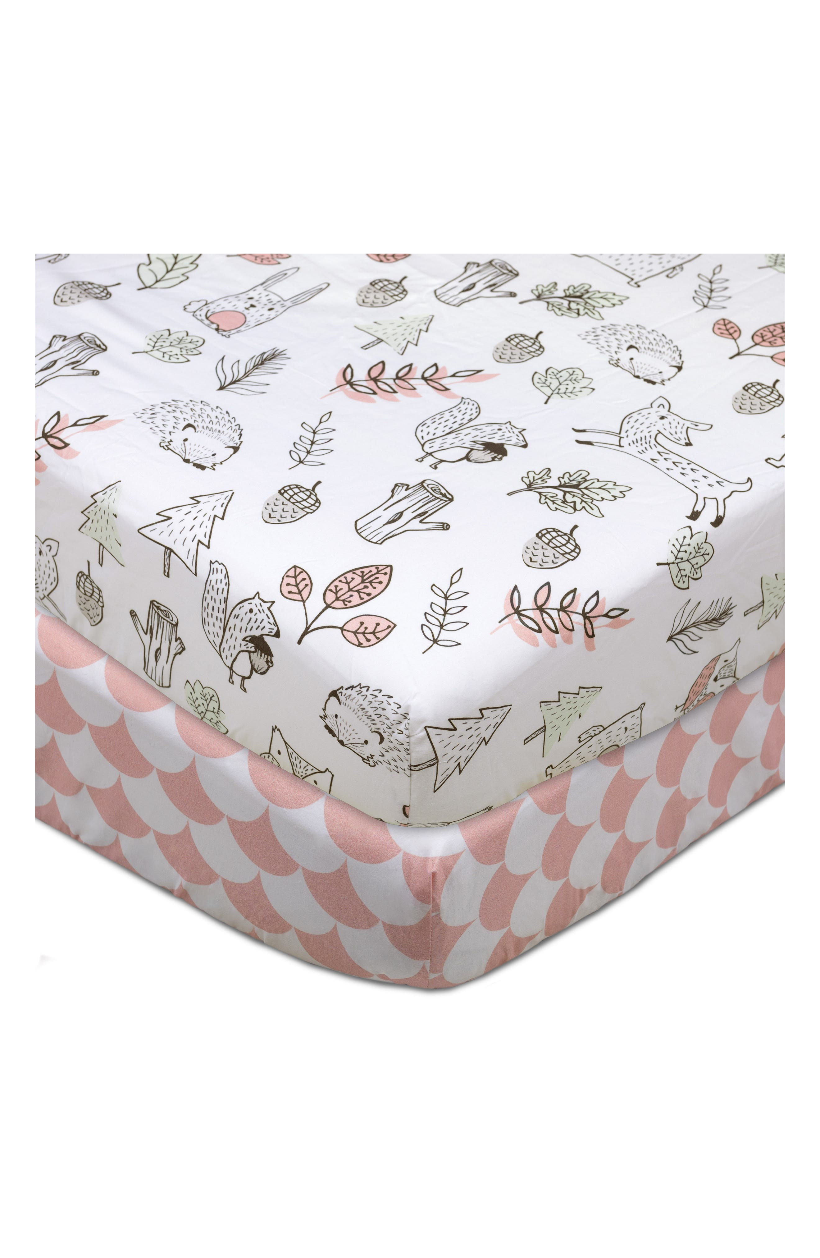 Alternate Image 1 Selected - Living Textiles Kayden 200 Thread Count Set of 2 Fitted Crib Sheets
