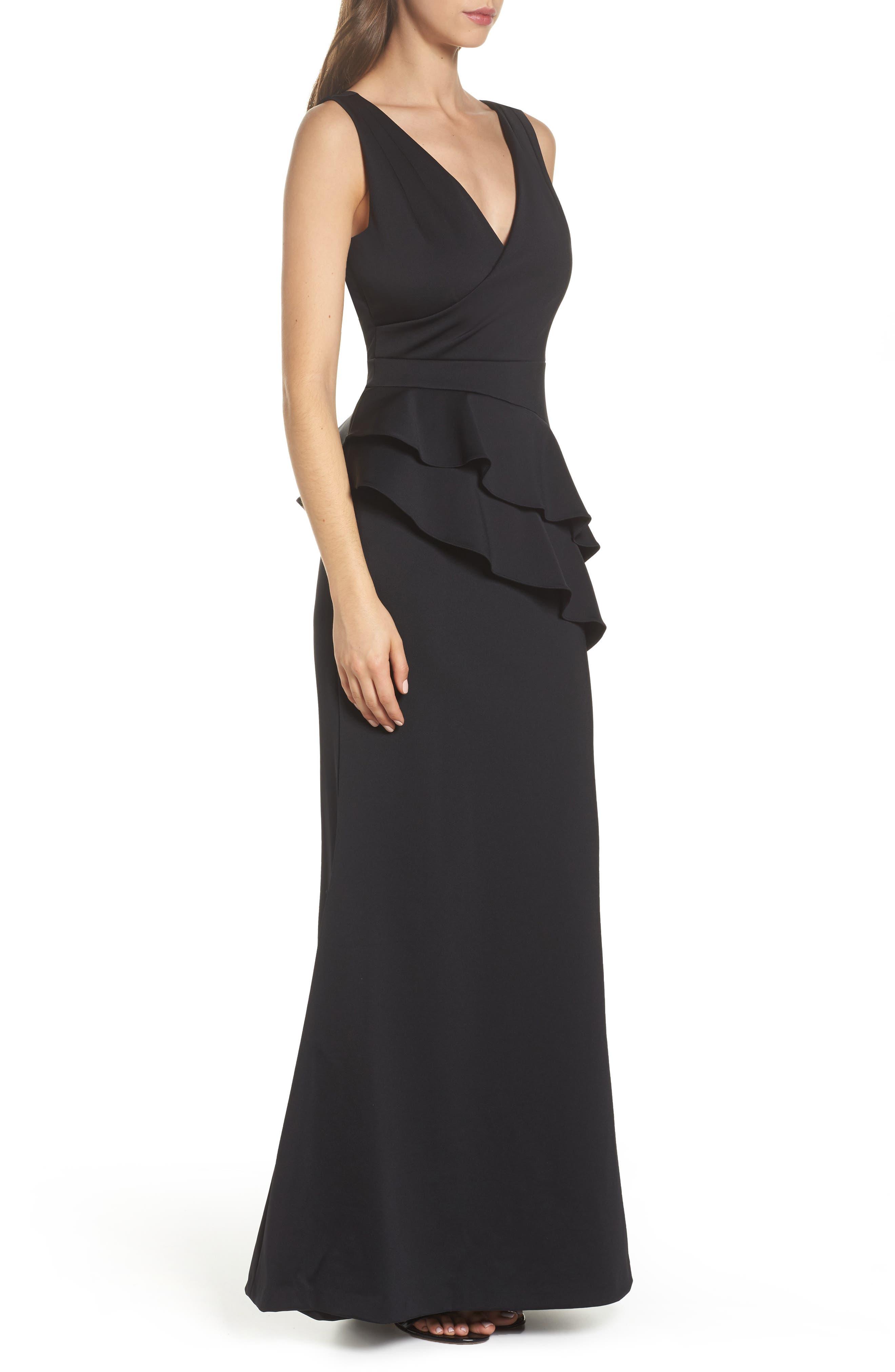 Alternate Image 3  - Adrianna Papell Neoprene Tiered Peplum Gown