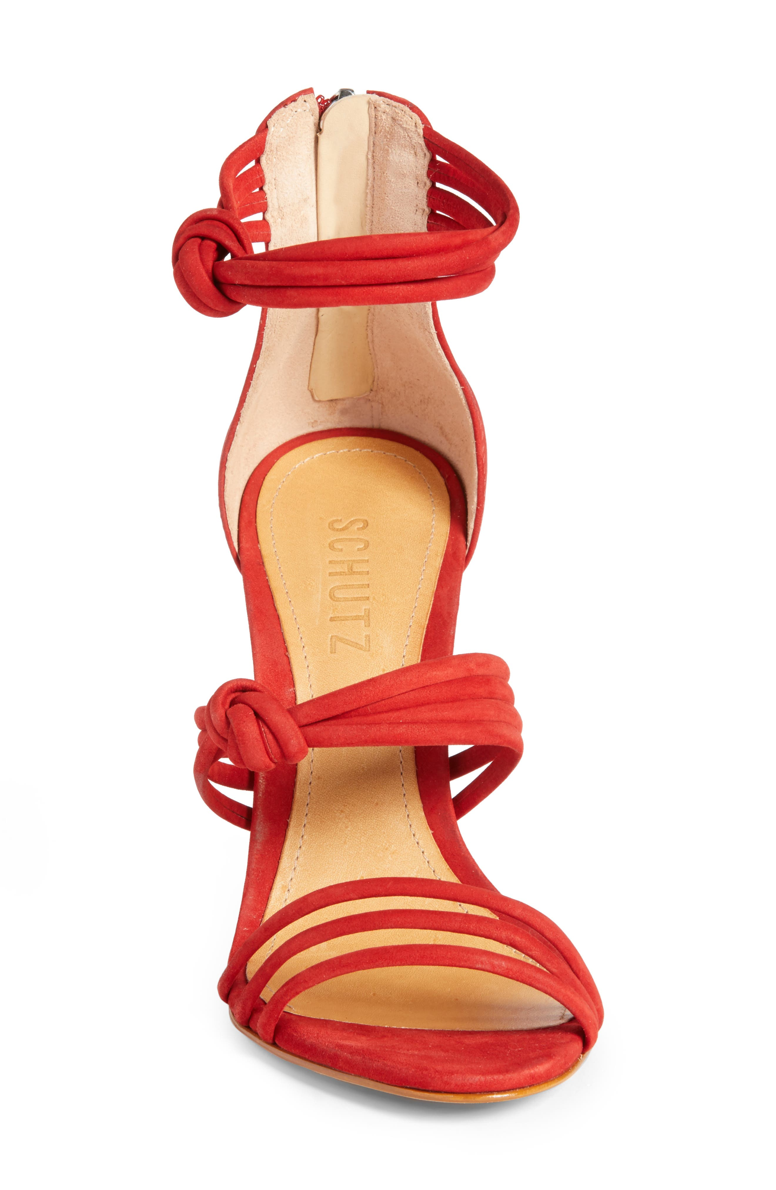 Suely Sandal,                             Alternate thumbnail 4, color,                             Tango Red