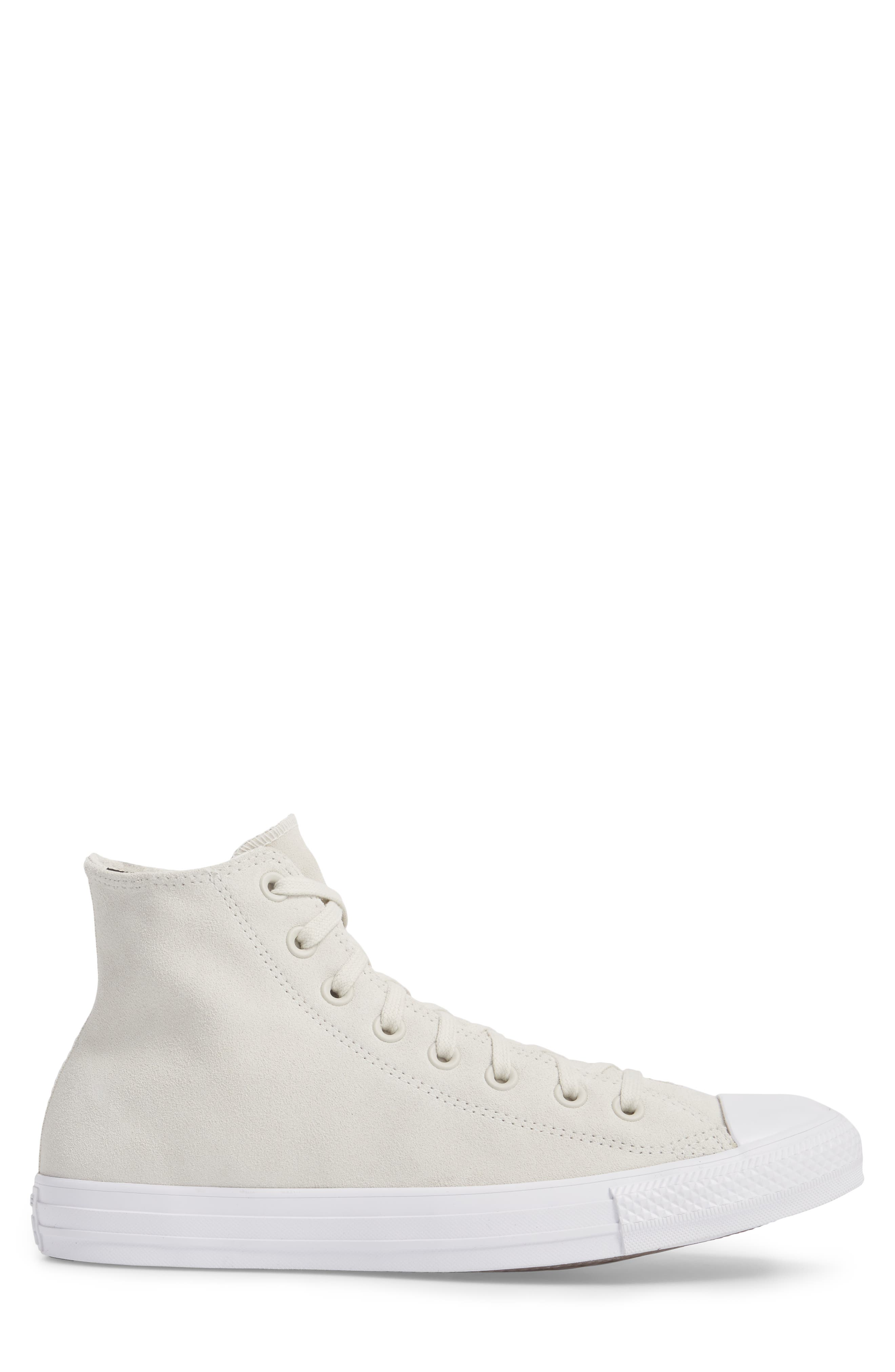 Chuck Taylor<sup>®</sup> All Star<sup>®</sup> Plush Hi Sneaker,                             Alternate thumbnail 3, color,                             Buff Suede