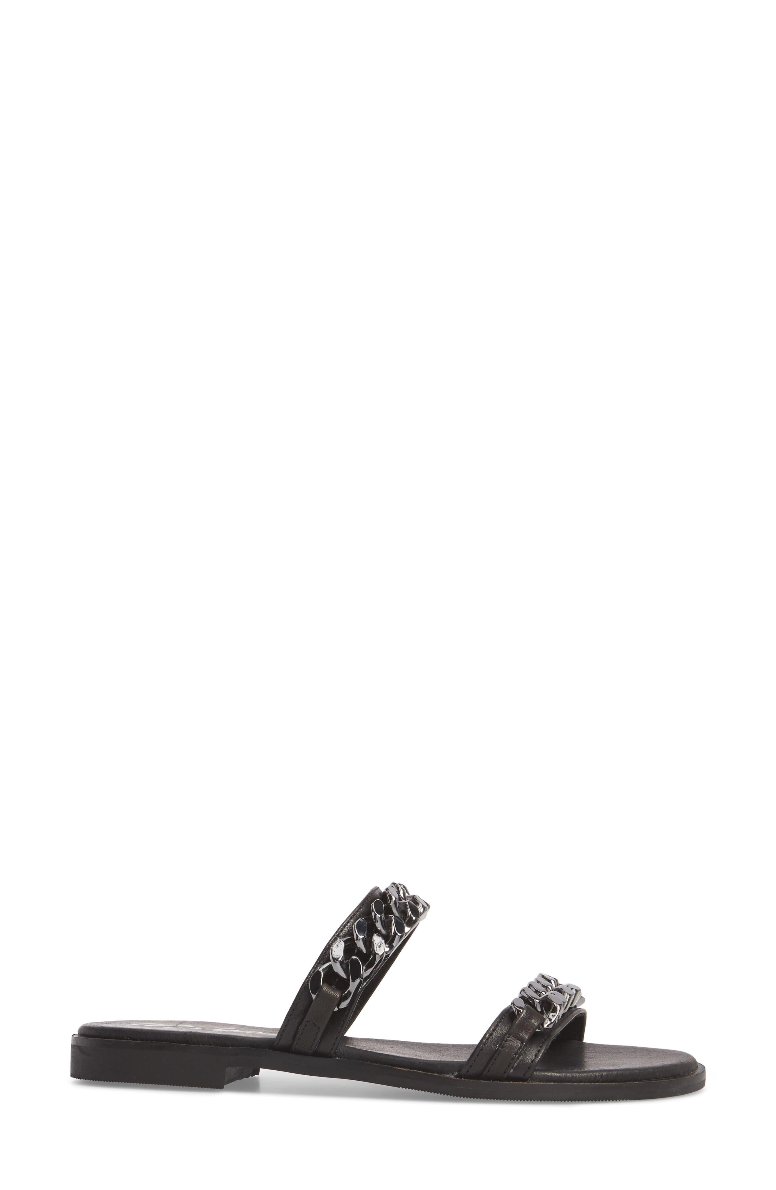 Reagon Sandal,                             Alternate thumbnail 3, color,                             Black Leather